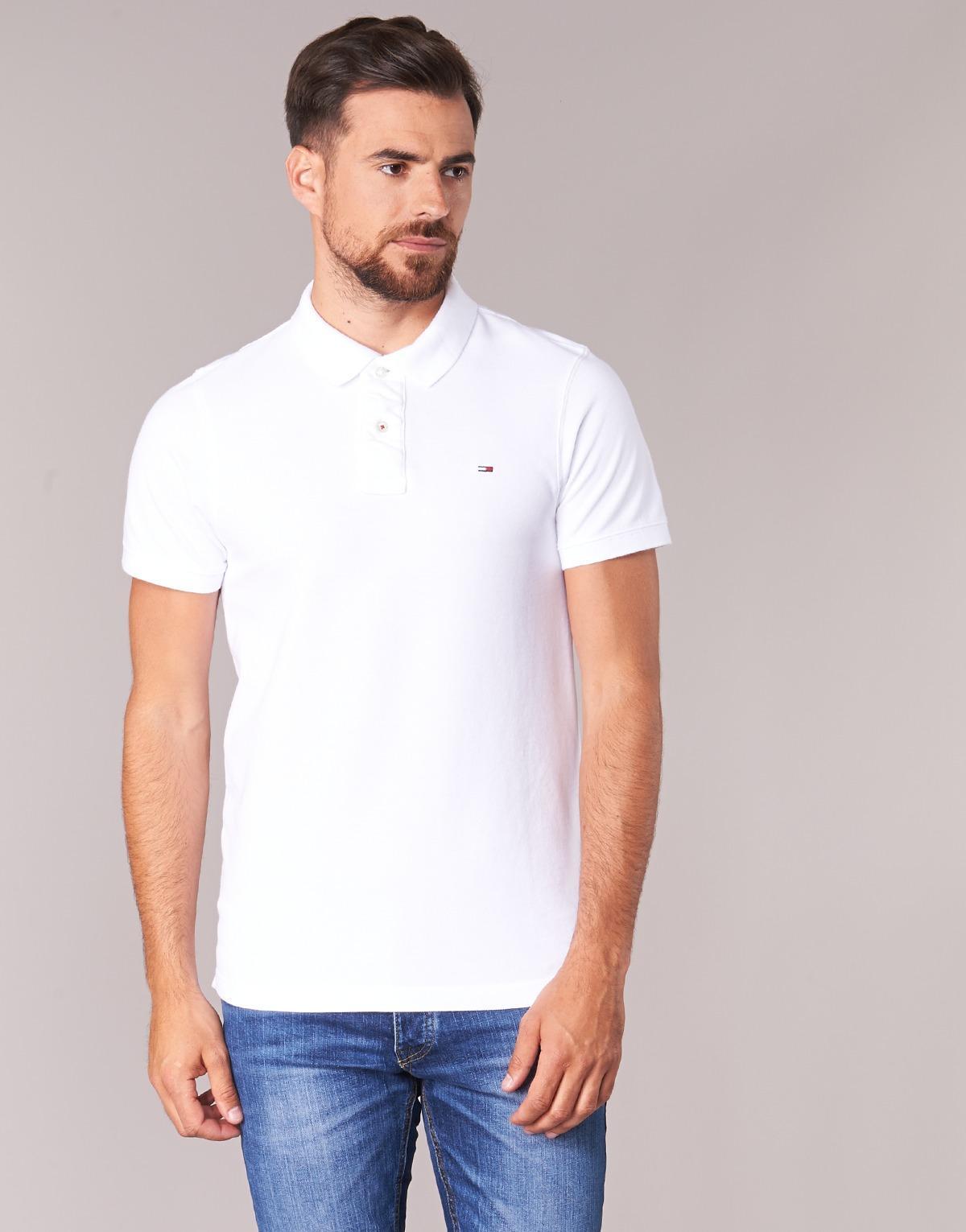 409f37e8 Tommy Hilfiger Original Flag Polo Men's Polo Shirt In White in White for  Men - Lyst