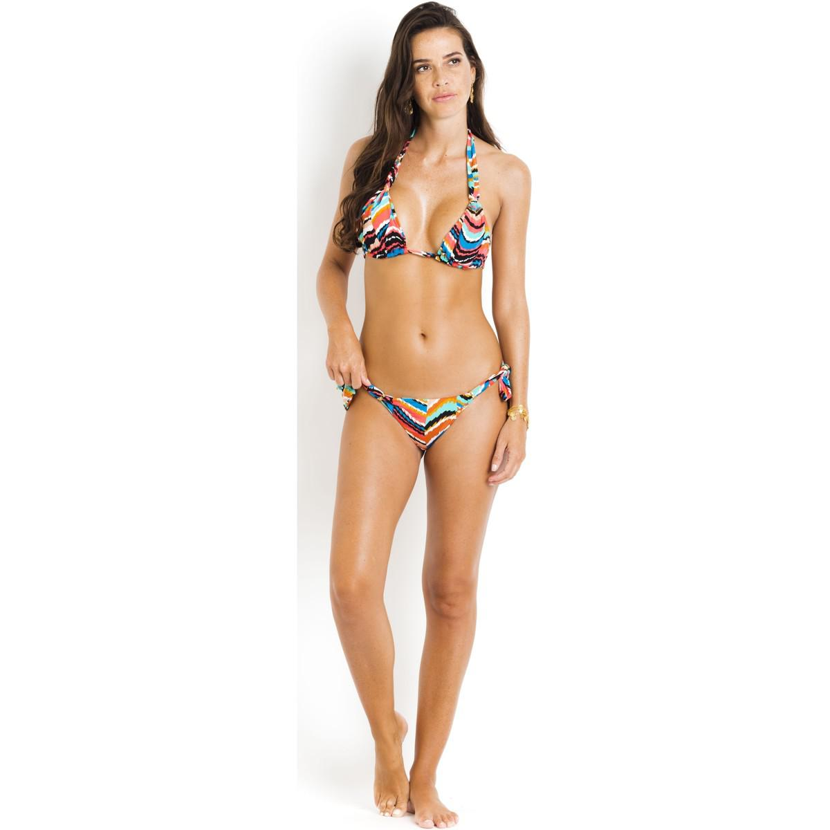 Bikini bottom knotted sides SALINAS Multicolored - Queen Salinas Geniue Stockist Official Site u4pXFPJqLP