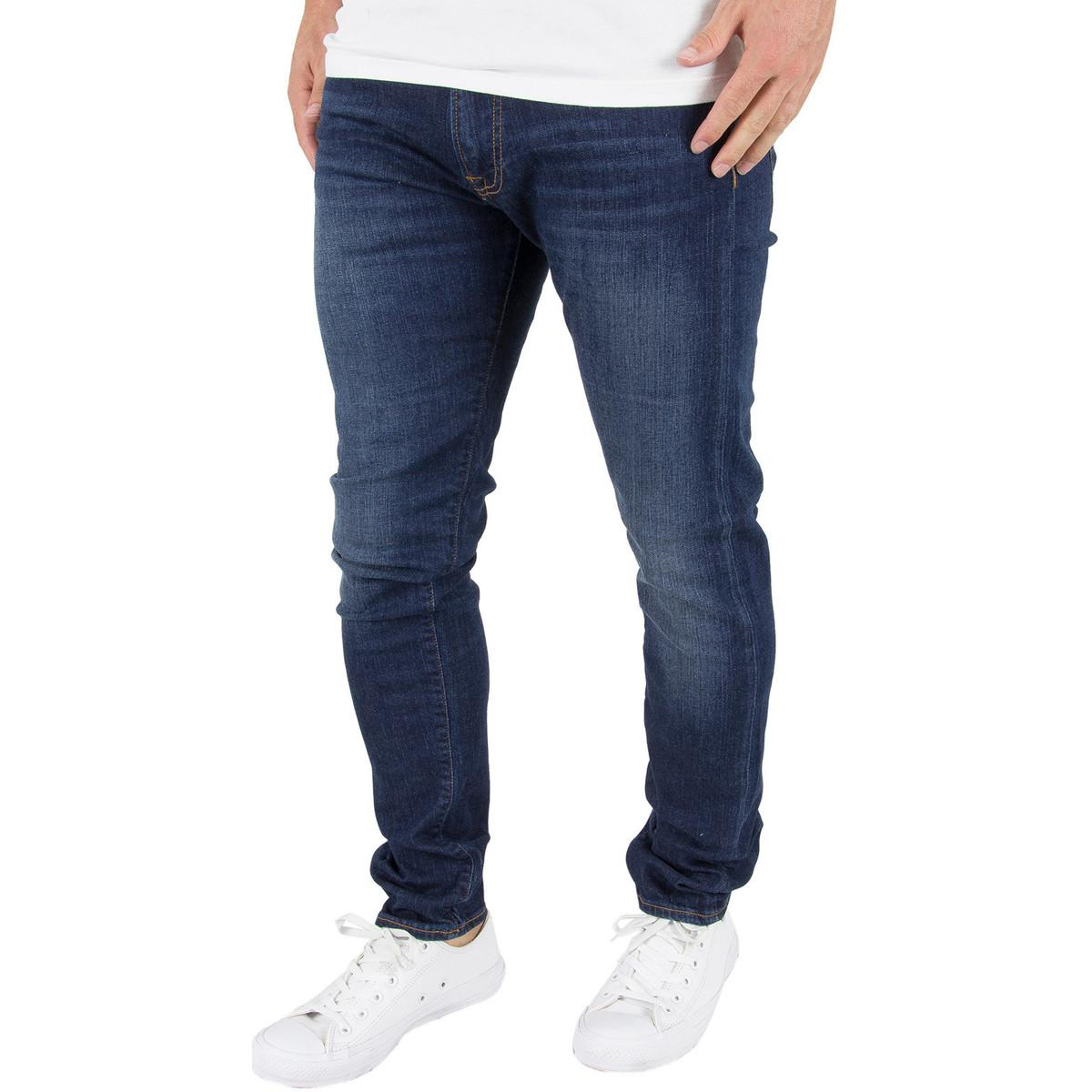 edwin mens ed85 slim tapered jeans blue mens jeans in