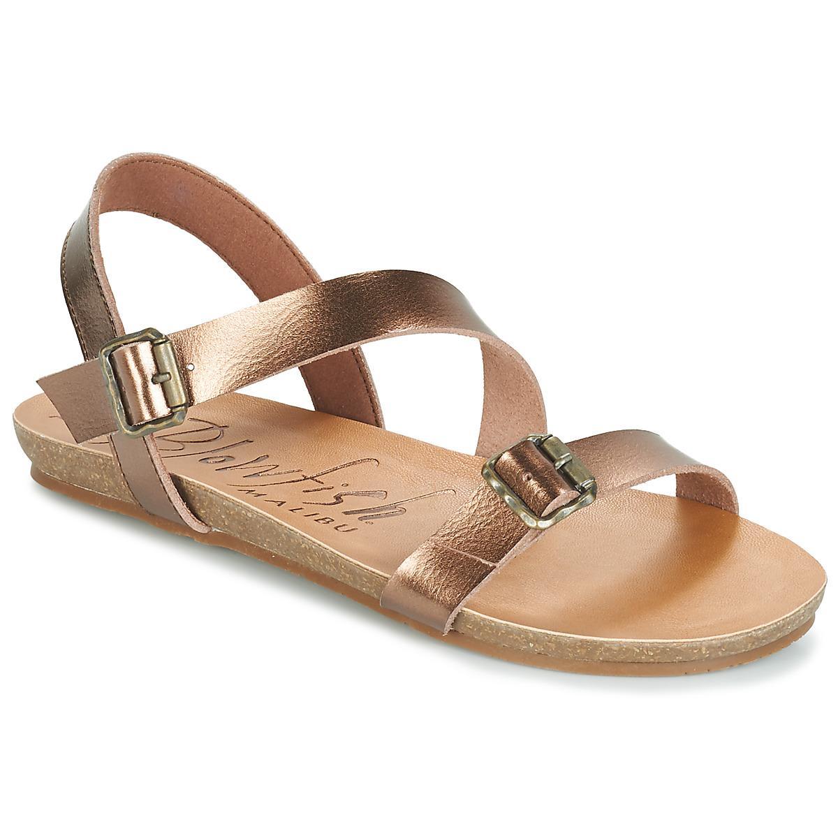 54123c12887 Blowfish Malibu Gallup Women s Sandals In Gold in Metallic - Lyst