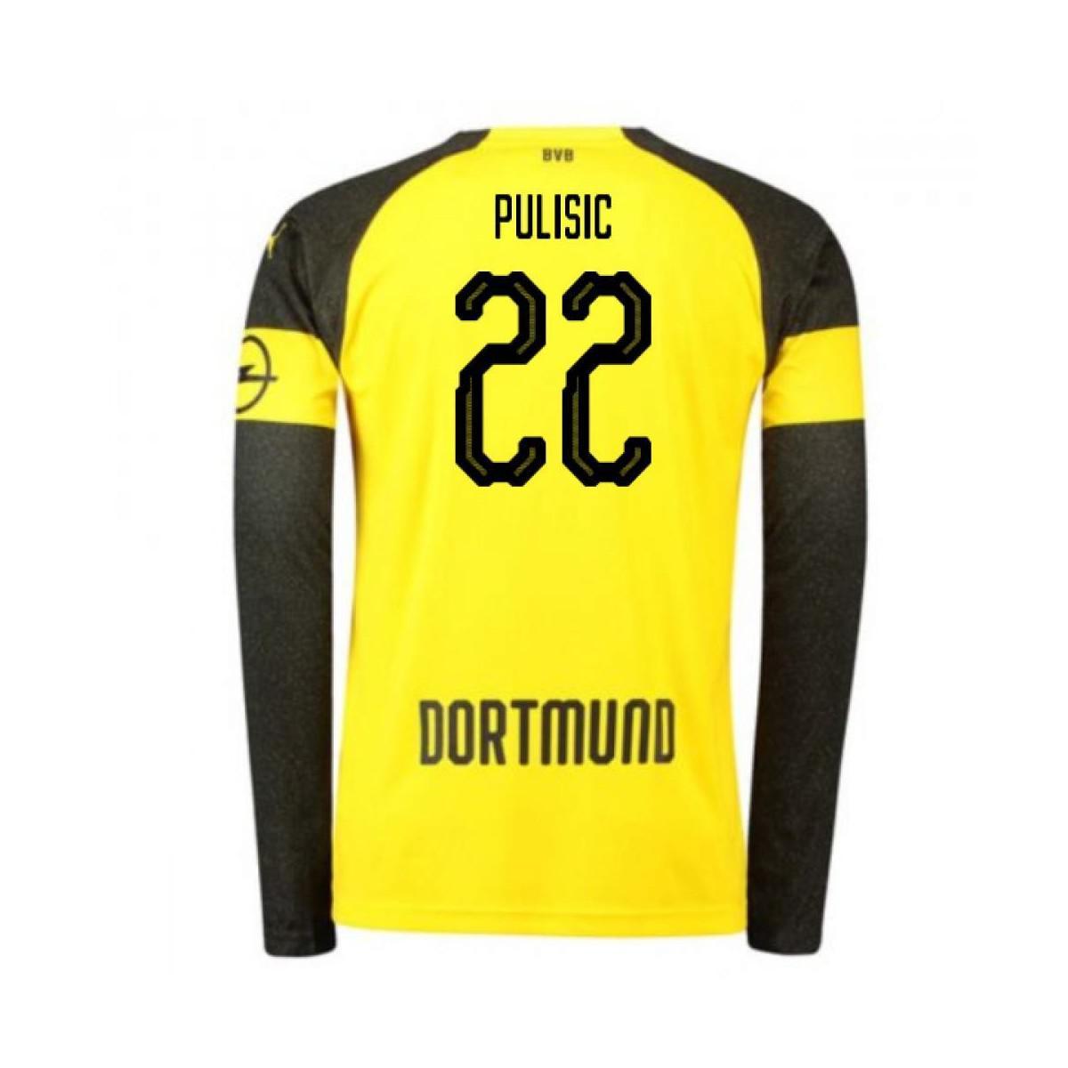 PUMA 2018-2019 Borussia Dortmund Home Long Sleeve Shirt (pulisic 22 ... 3df274a19