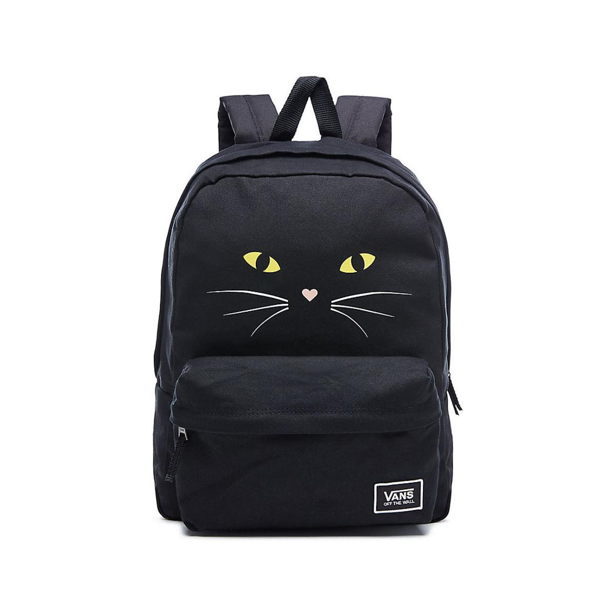 78499c30c8 Vans Realm Classic Backpack - Black Cat Women s Backpack In Black in ...