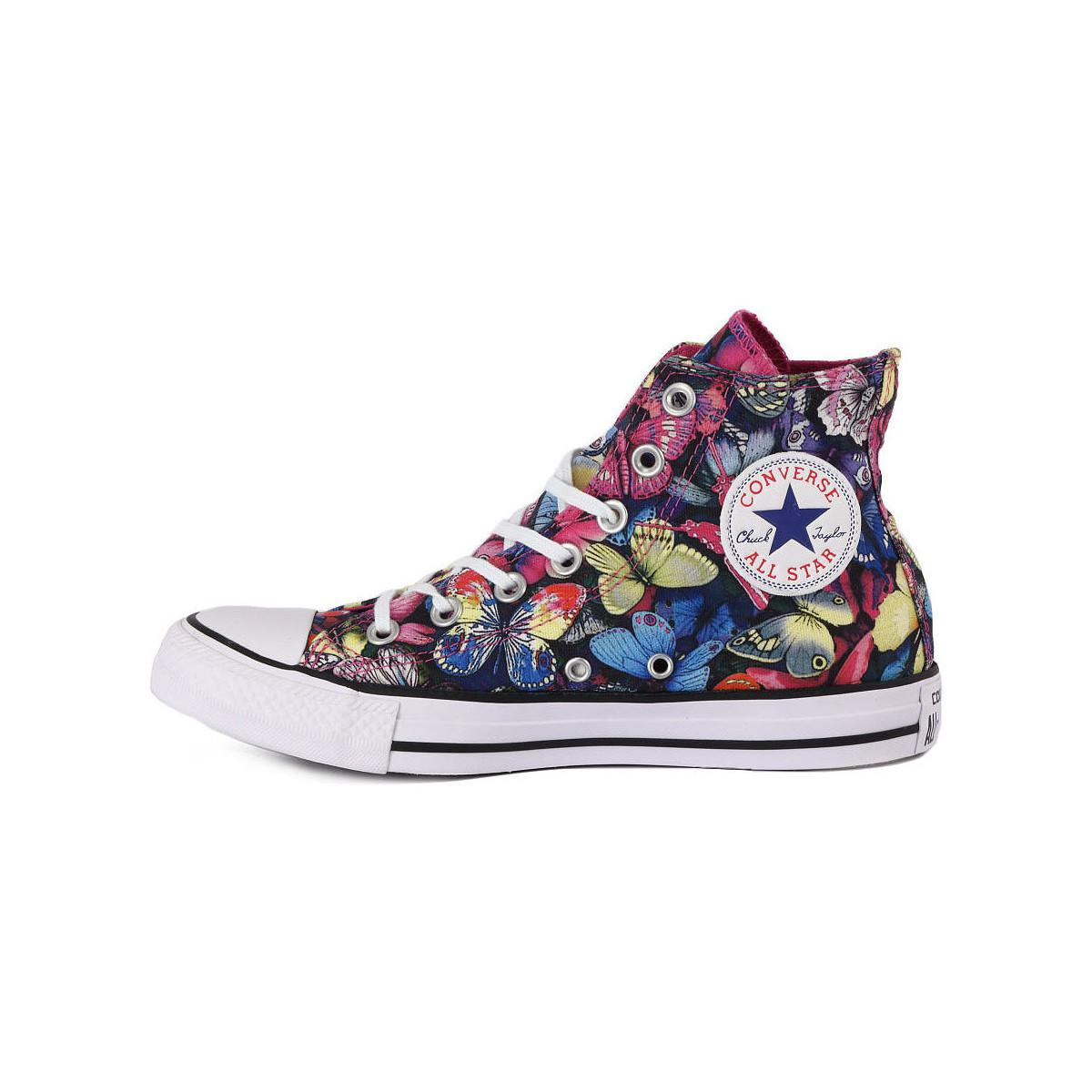All Star Butterfly Hi Women's Shoes (high top Trainers) In Multicolour