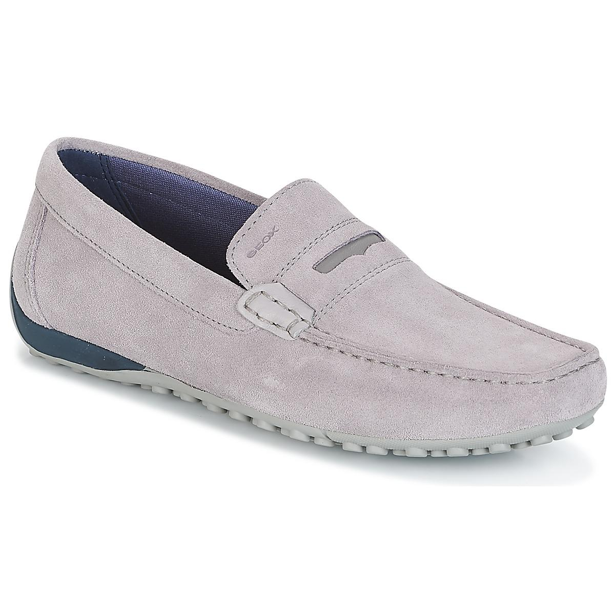 Geox Snake Moc A Men s Loafers   Casual Shoes In Grey in Gray for ... eaf3c60e385b