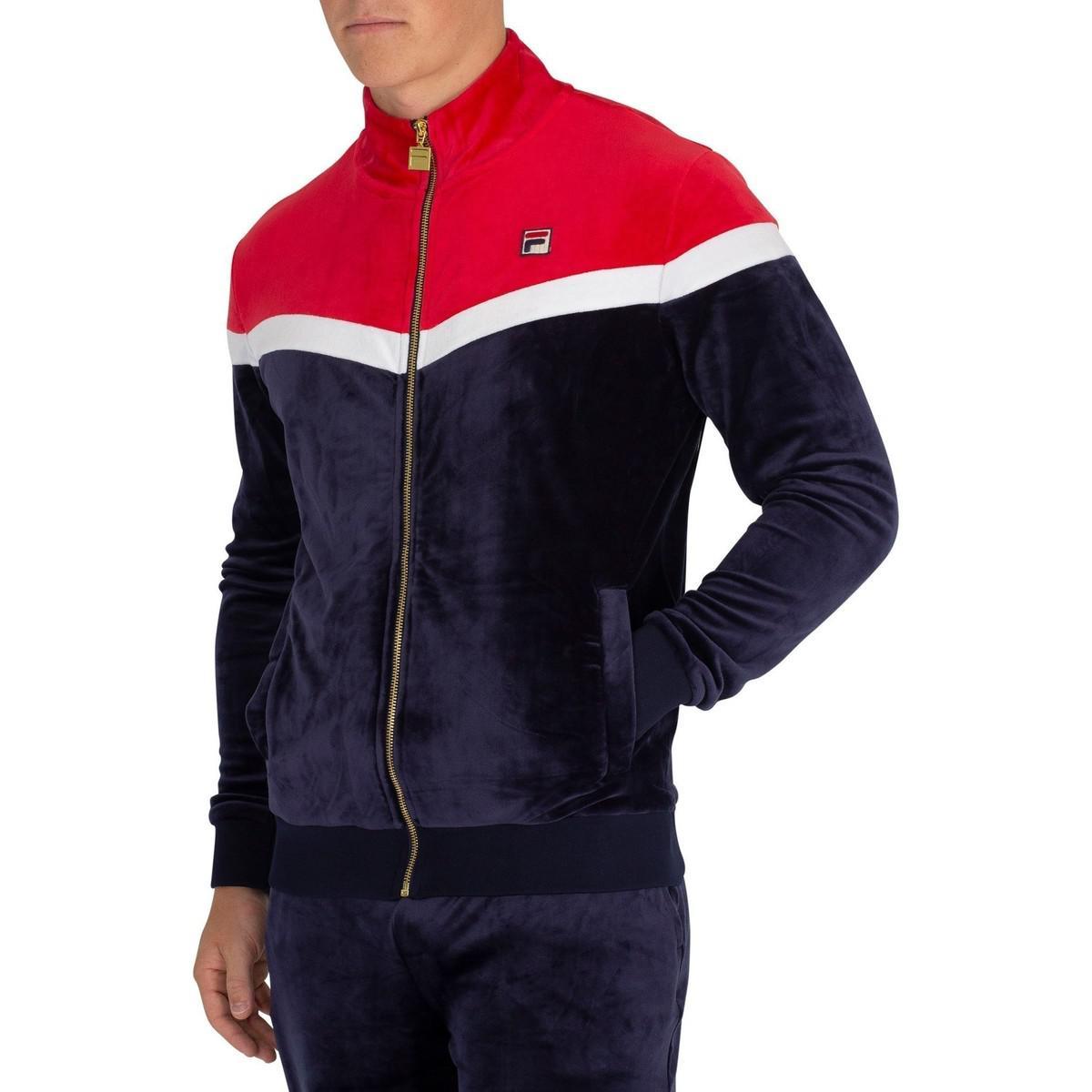 94b758df Fila Men's Harry Vintage Style Track Jacket, Blue Men's Tracksuit ...