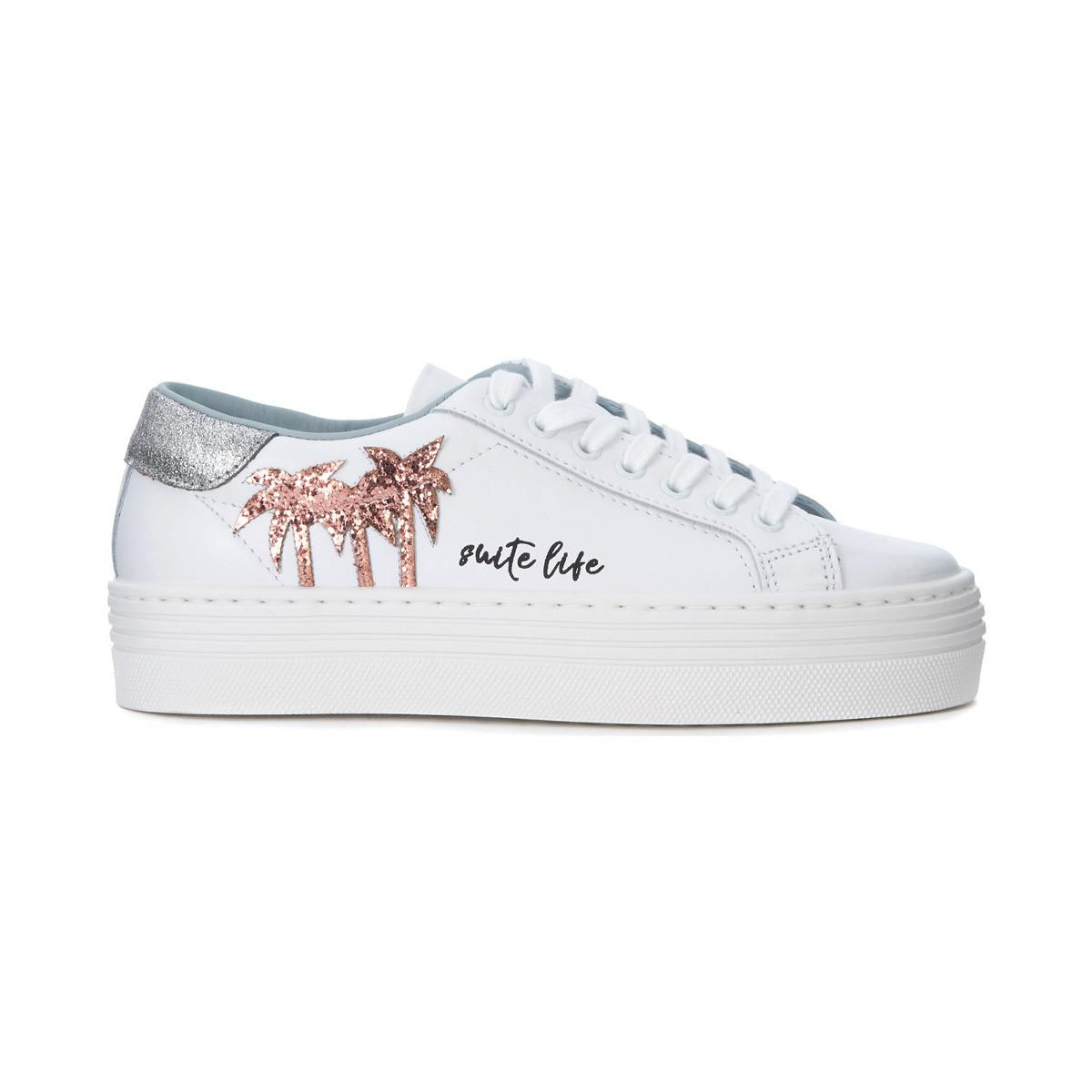 Chiara Ferragni Suite leather and glitter sneaker women's Shoes (Trainers) in Purchase Cheap Online yTEoa