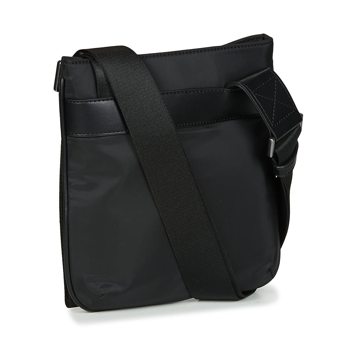 Emporio Armani Omnia Flat Messenger Bag Men s Pouch In Black in ... fc13e97fe460d