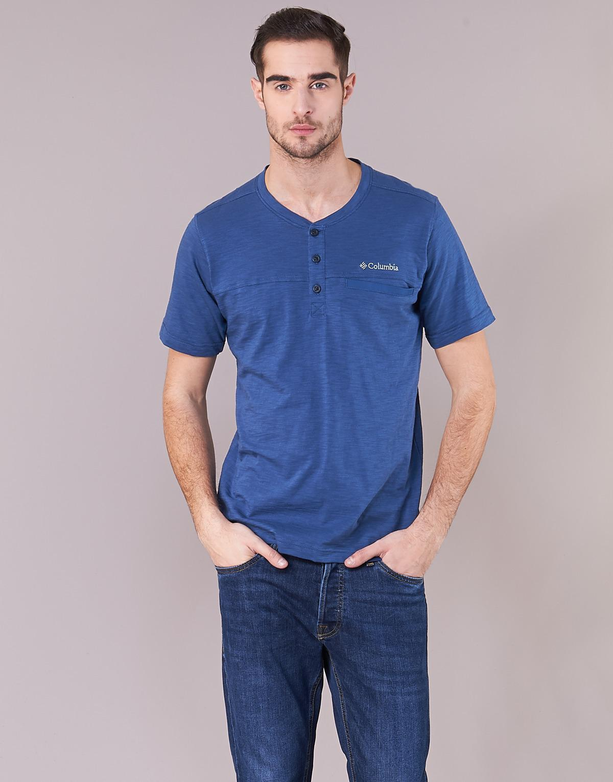 eb1537184aa Columbia Lookout Point Novelty Ss Shirt Men's T Shirt In Blue in Blue for  Men - Lyst