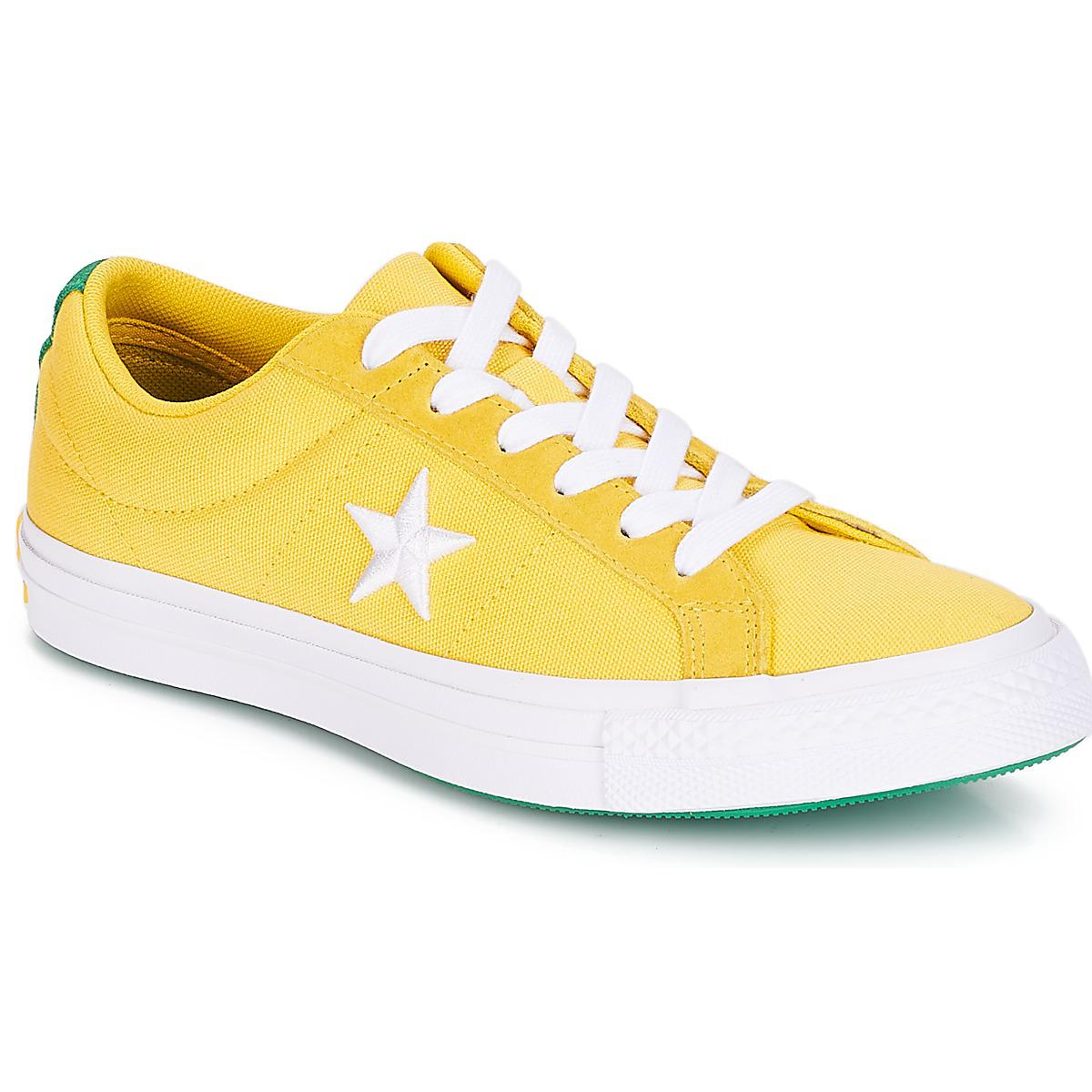 7554c74814c4fa Converse One Star Women s Shoes (trainers) In Yellow in Yellow ...