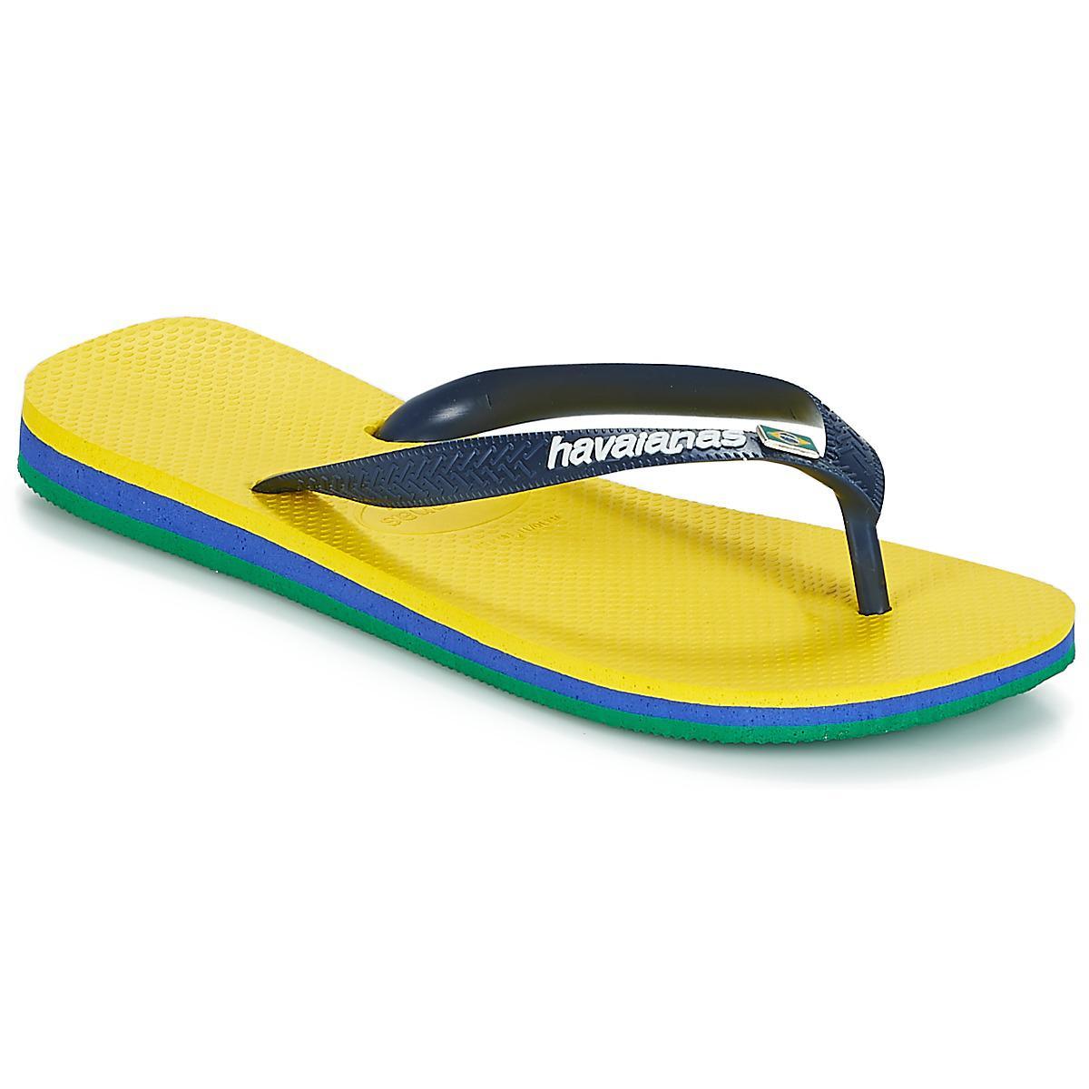 8203796f2cea Havaianas - Brasil Layers Women s Flip Flops   Sandals (shoes) In Yellow -  Lyst. View fullscreen