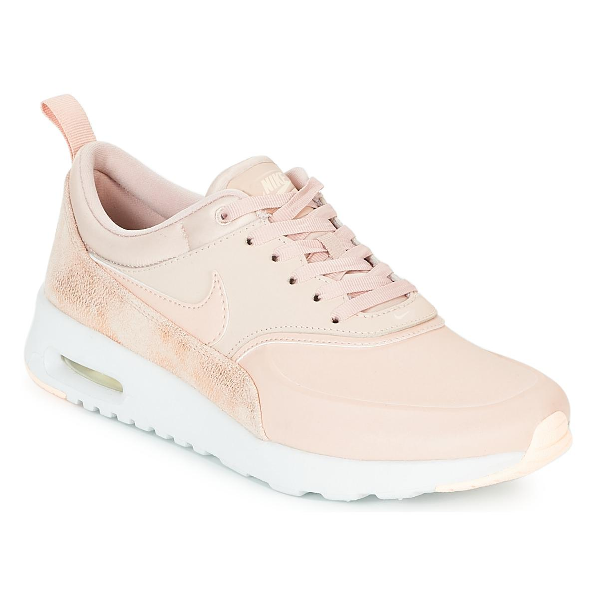 0e373f93f7f Nike Air Max Thea Premium W Women s Shoes (trainers) In Pink in Pink ...