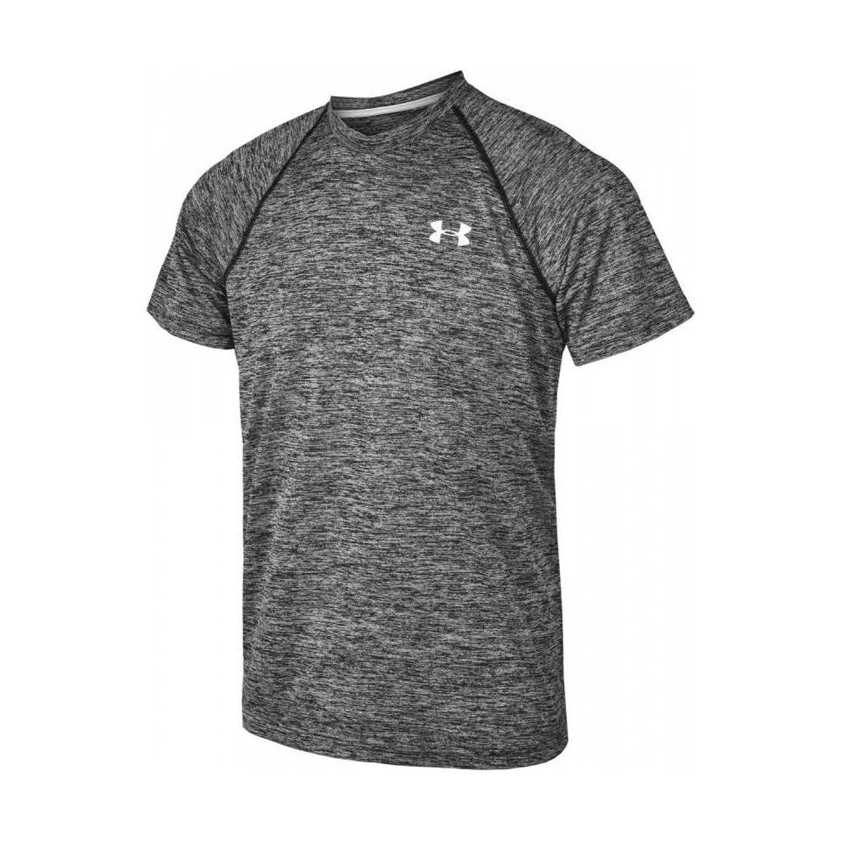 Lyst under armour tech short sleeve tshirt m men 39 s t for Gray under armour shirt