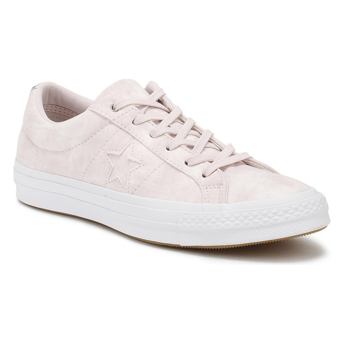 557b634f5bb3 Converse. One Star Womens Barely Rose Canvas Ox Trainers Women s Shoes  (trainers) In Pink
