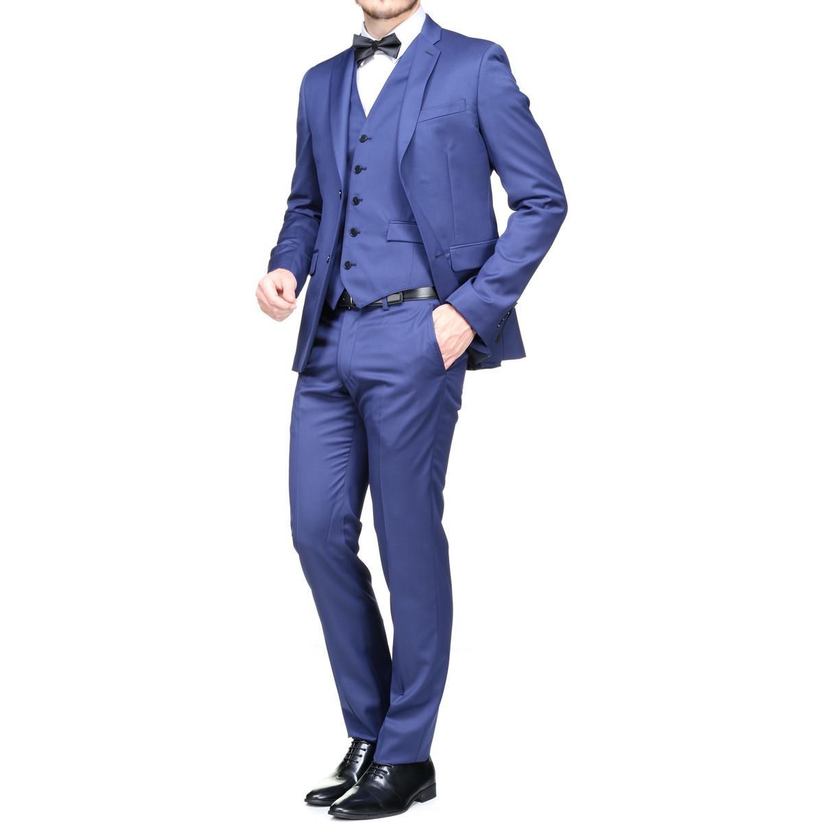 Lyst - Costume 3 pièces hommes Costumes en bleu Azzaro pour homme en ... 72b22312a169