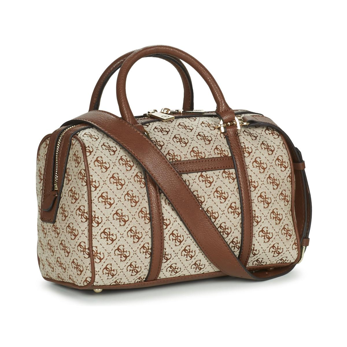 56760c06b6357 Guess - Vintage Box Satchel Women s Handbags In Brown for Men - Lyst. View  fullscreen