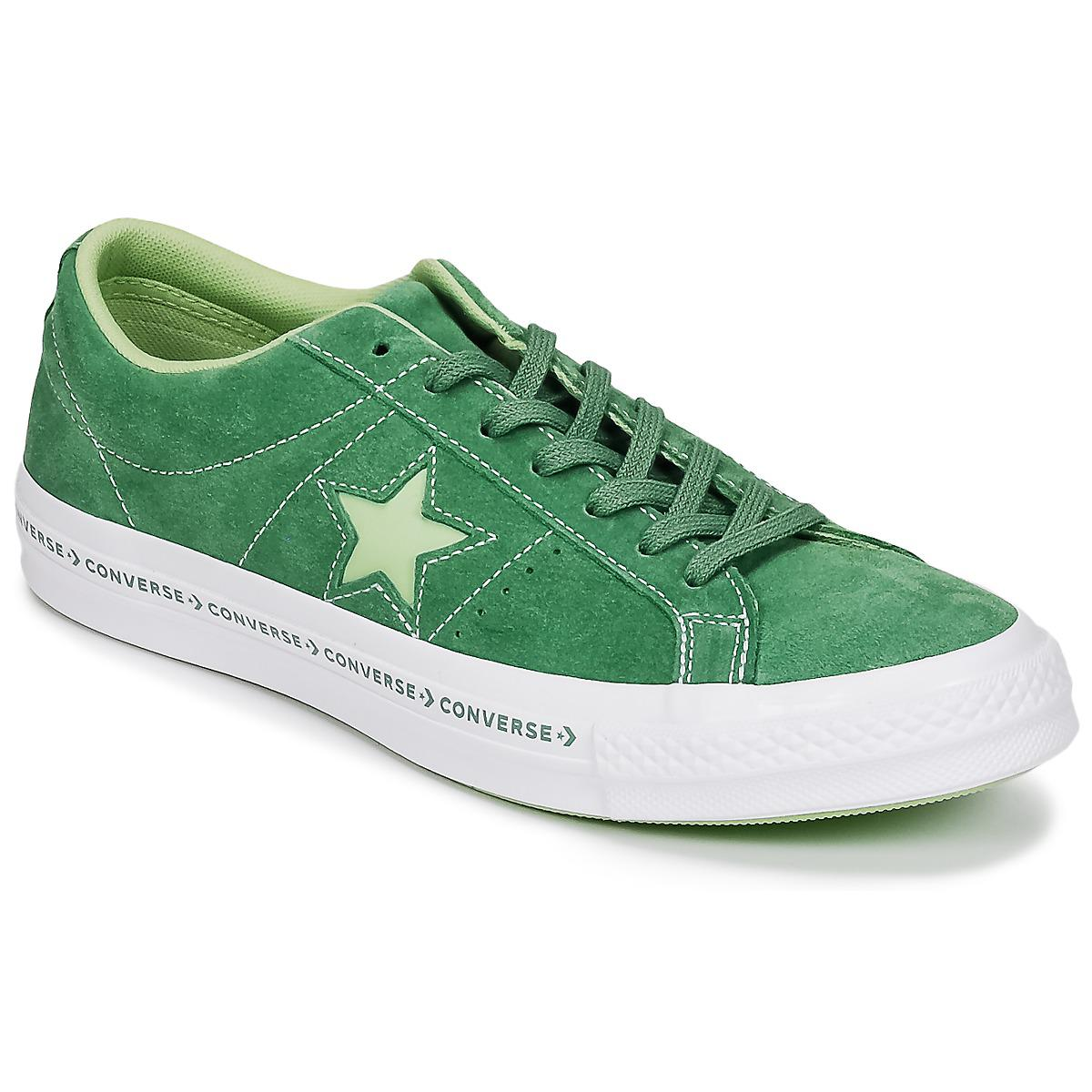 8530ebd8e242 Converse One Star Shoes (trainers) in Green for Men - Save 12% - Lyst