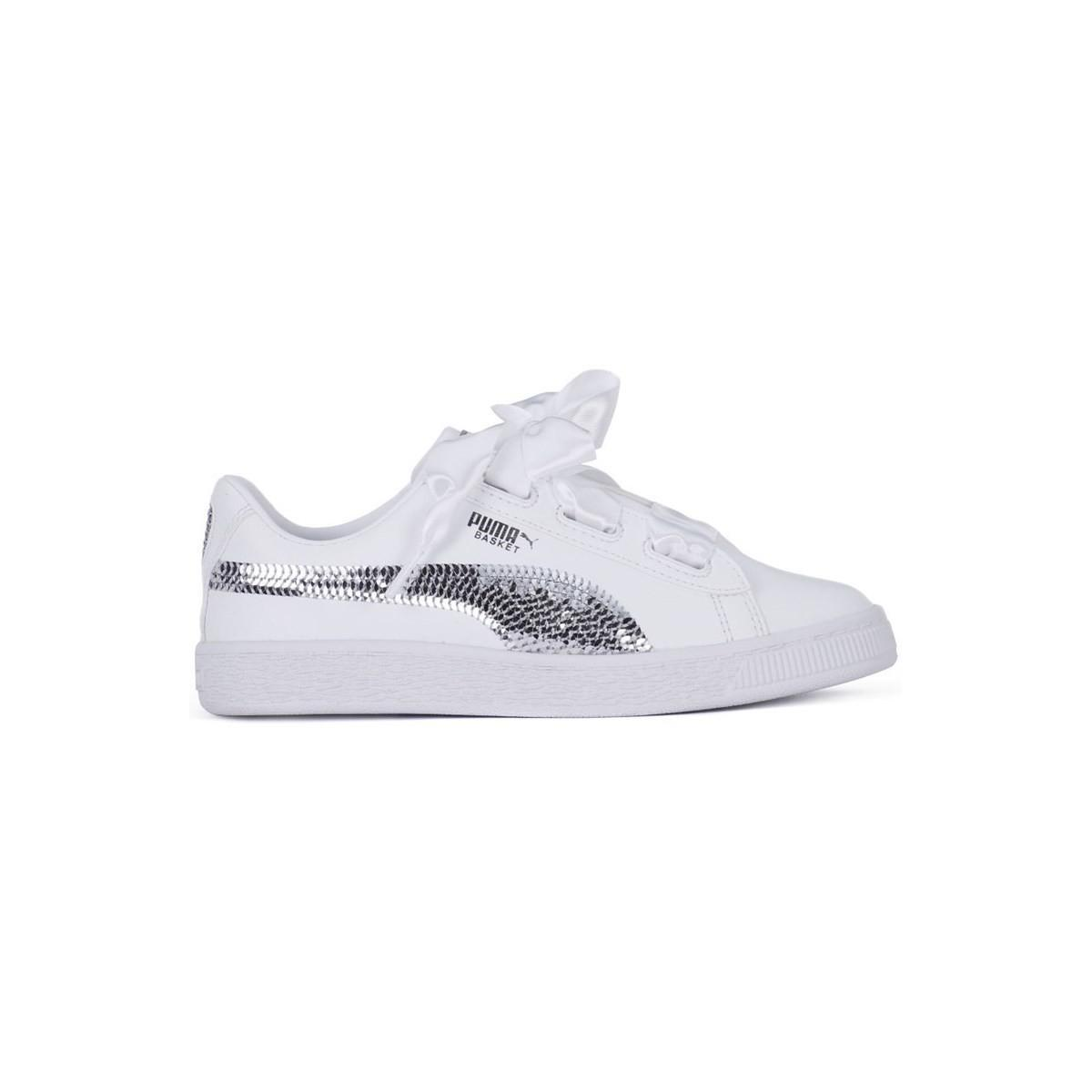 d49bbeadee2a PUMA Heart Bling Ps Women s Shoes (trainers) In White in White - Lyst