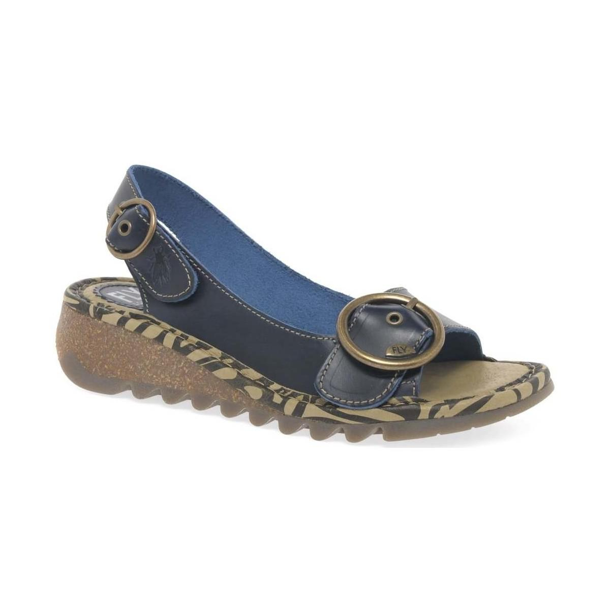 6624f04c002bf Fly London Tram Womens Casual Sandals Women's Sandals In Blue in ...