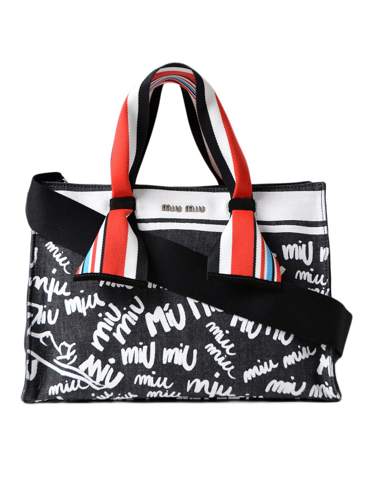 Miu Logo shoulder bag - Black Miu Miu AyP6VRWFf