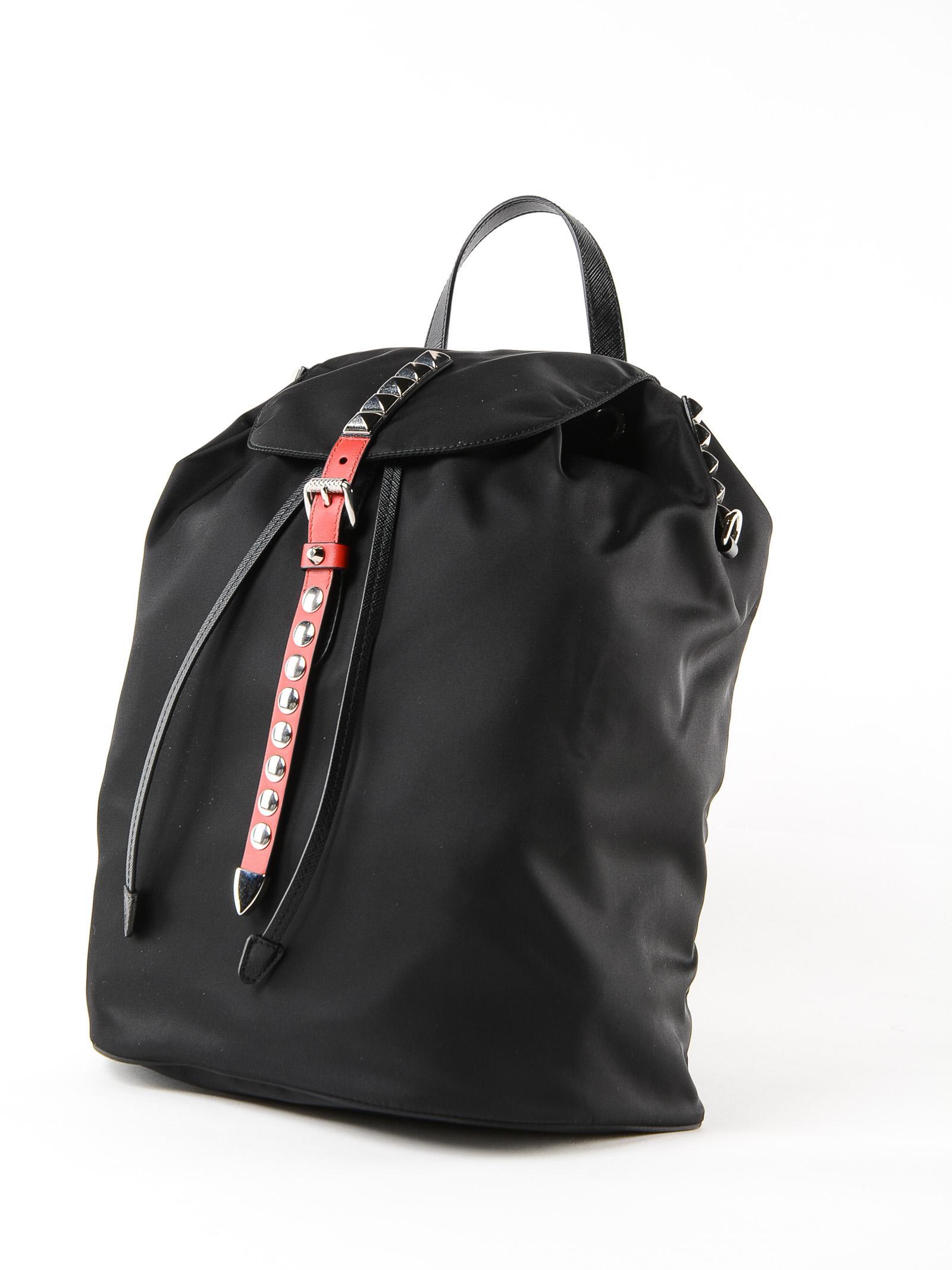 ccb99a72dfe3 Prada Black Backpack in Black - Lyst