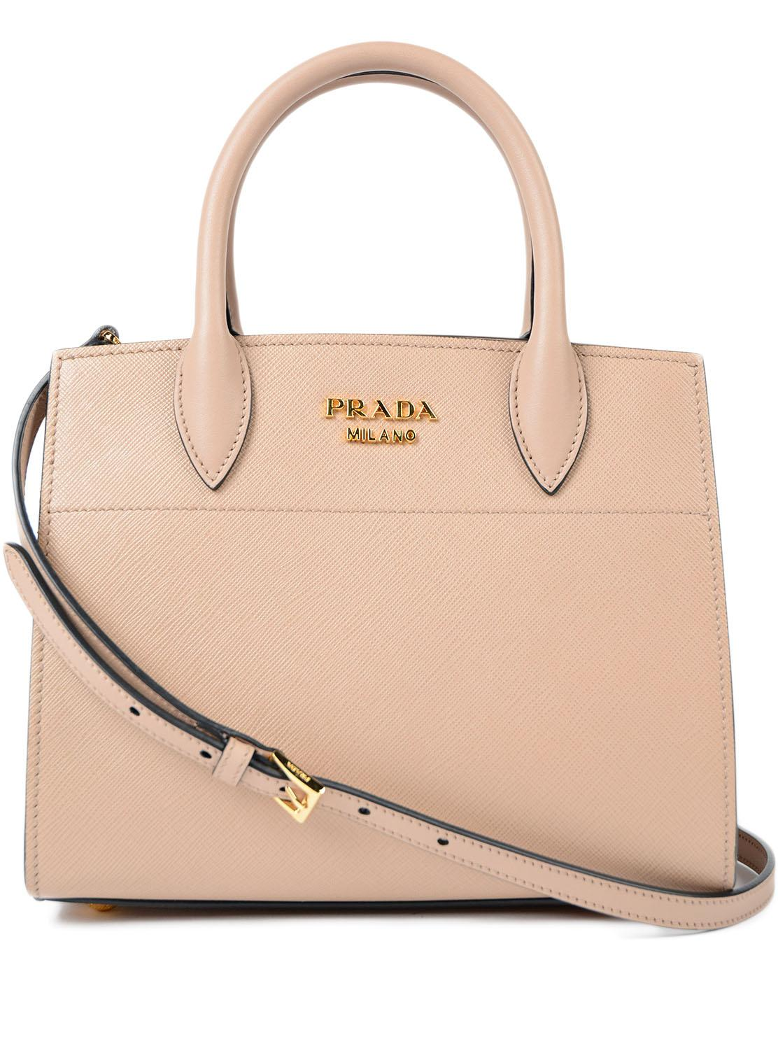 b14314afa76125 Prada Saffiano+city Calf Bibliotheque Handbag - Lyst