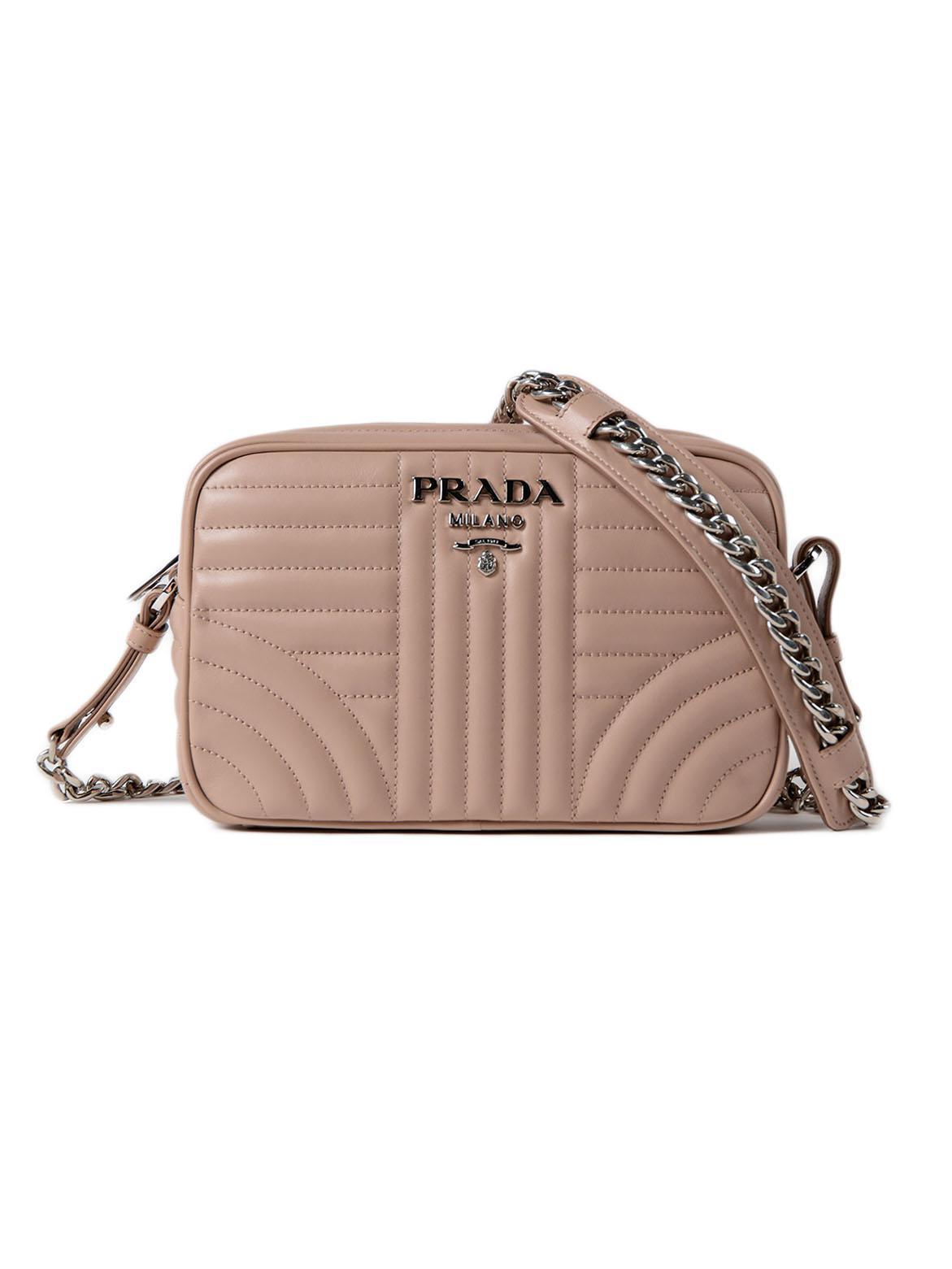 81acd7e98994 Prada Soft Calf Impunture Crossbody - Lyst