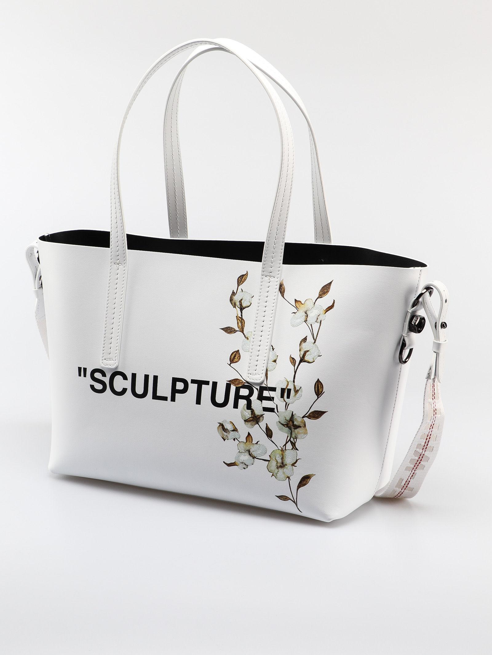 1de396544 Off-White c/o Virgil Abloh Cotton Flower Shopper in White - Save 20% - Lyst