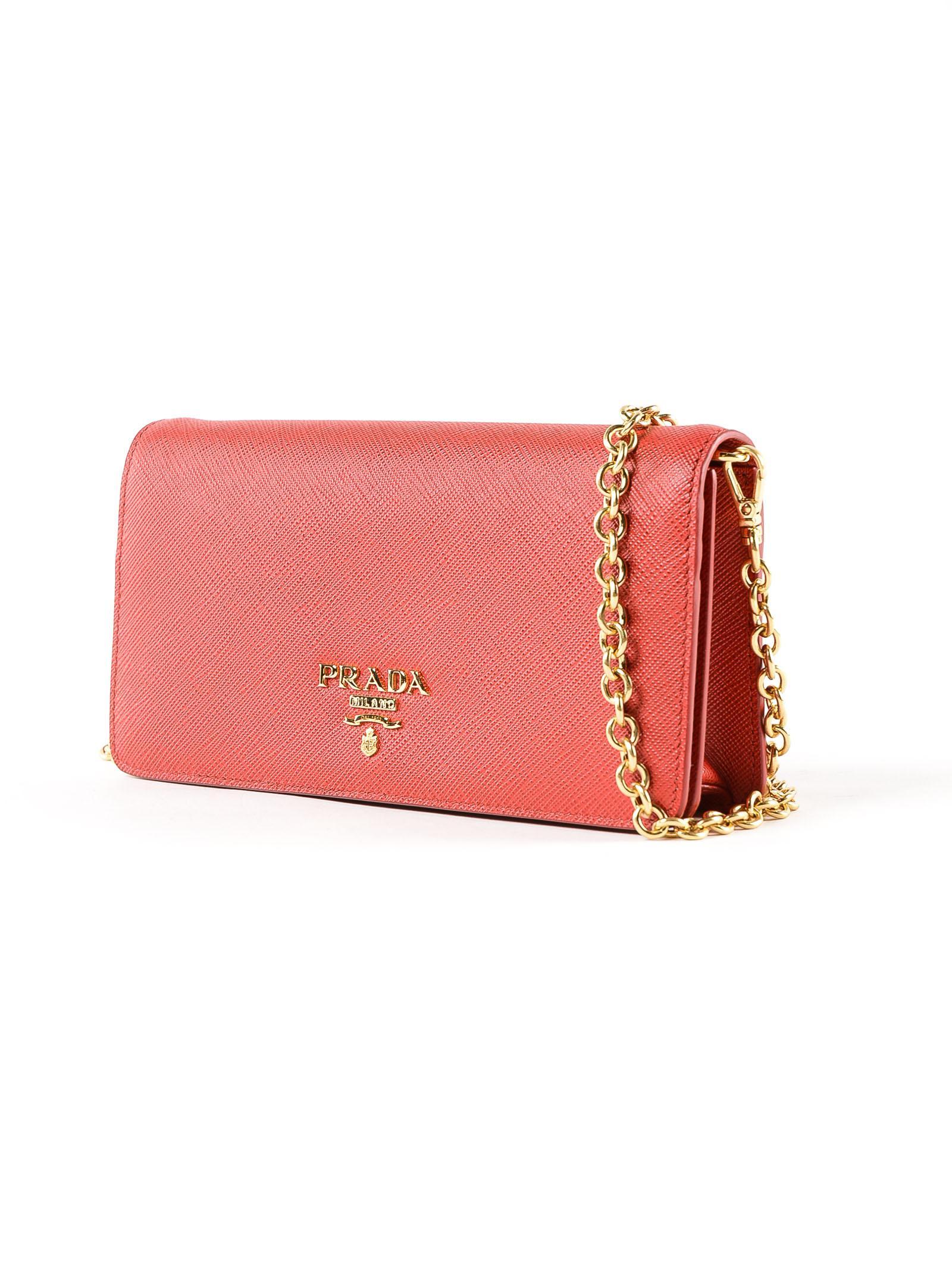 755d0181726a ... promo code lyst prada mini bag saffiano in red 91b12 1c450