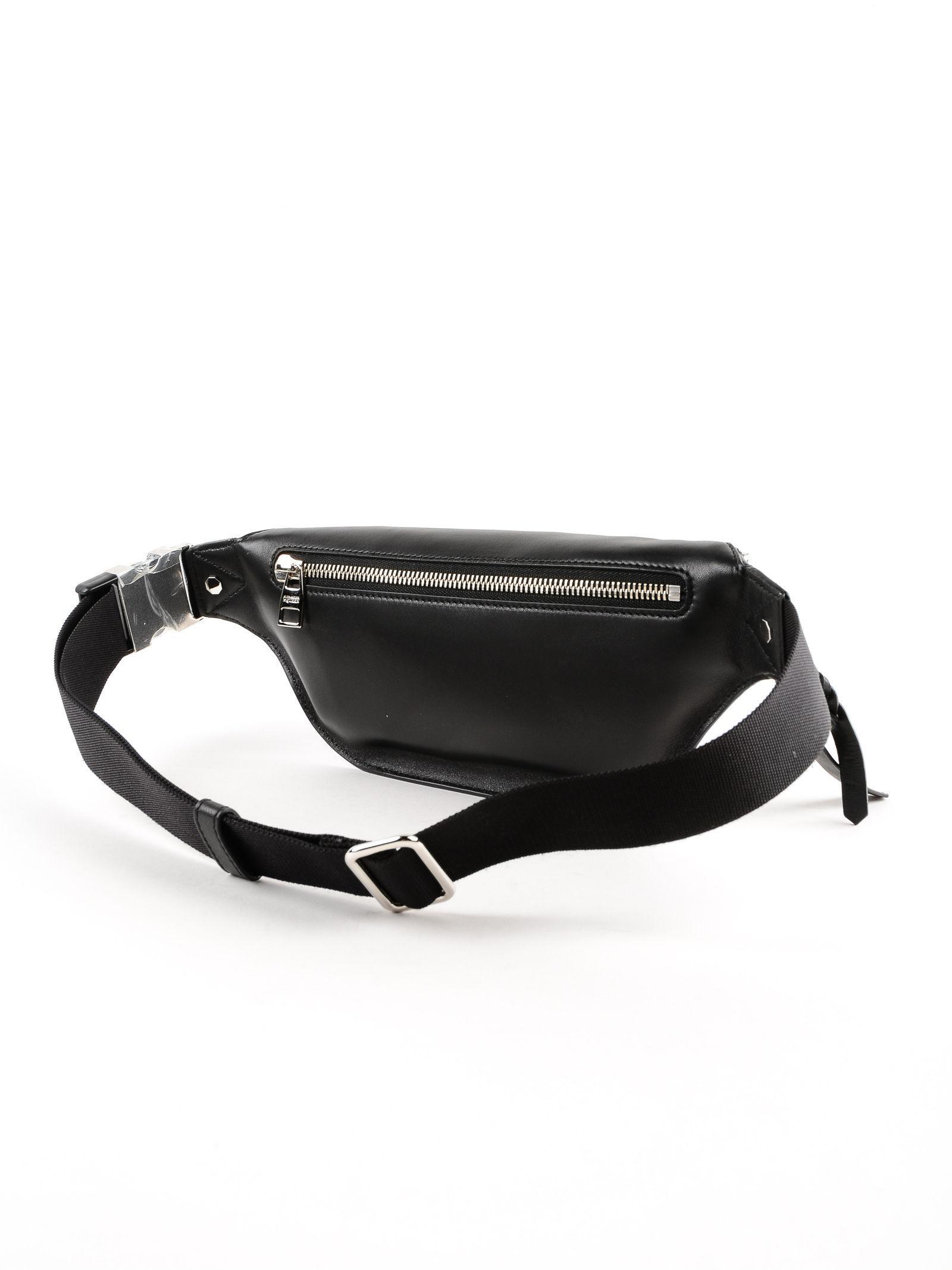 6a129541a7 Alexander McQueen Harness Leather Belt Bag in Black for Men - Lyst