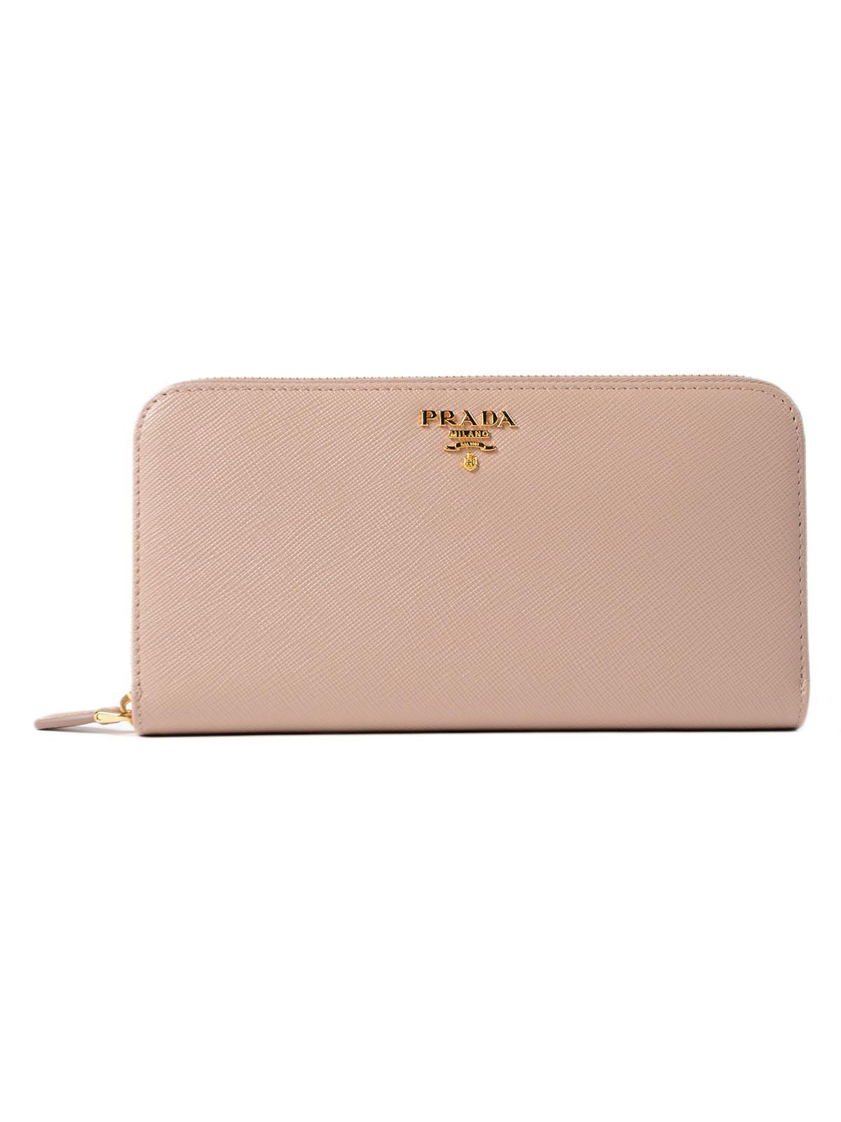 5539cbeadccc Prada - Multicolor Wallet Saffiano Metal Oro - Lyst