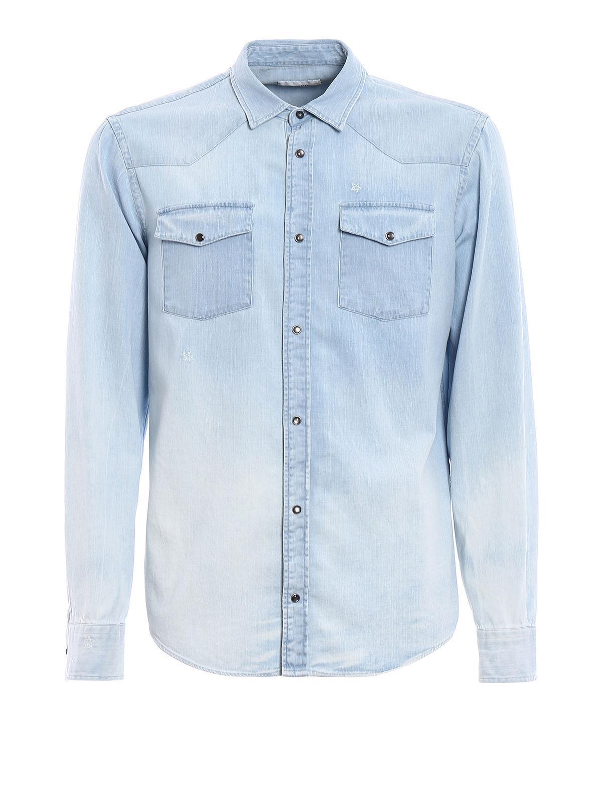 Light blue Neely shirt Dondup Free Shipping Perfect e4OdklS