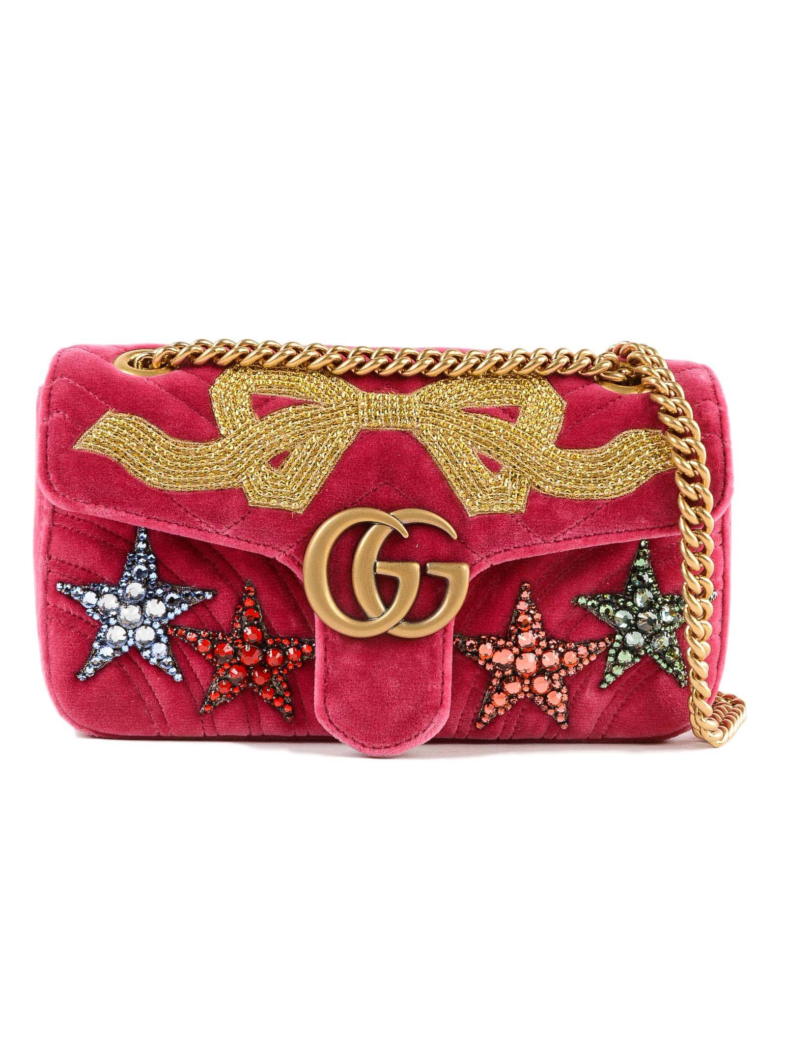ffecb7c25b8 Lyst - Gucci W Gg Marmont 2.0 Bag in Pink