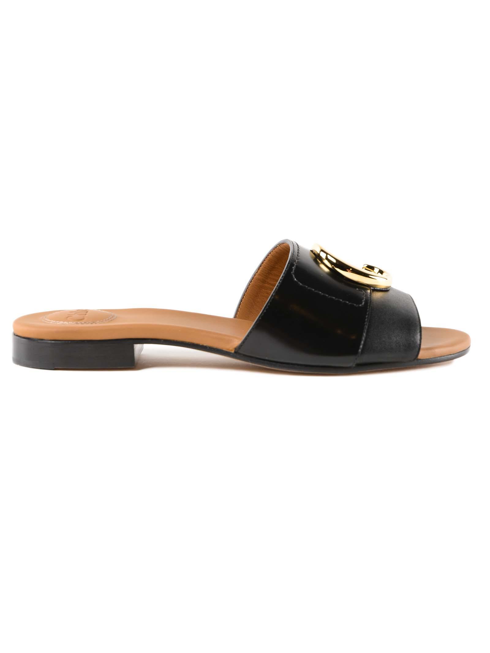 Chloé In Sandal Chloe Black Lyst Flat SVLGMpqUz