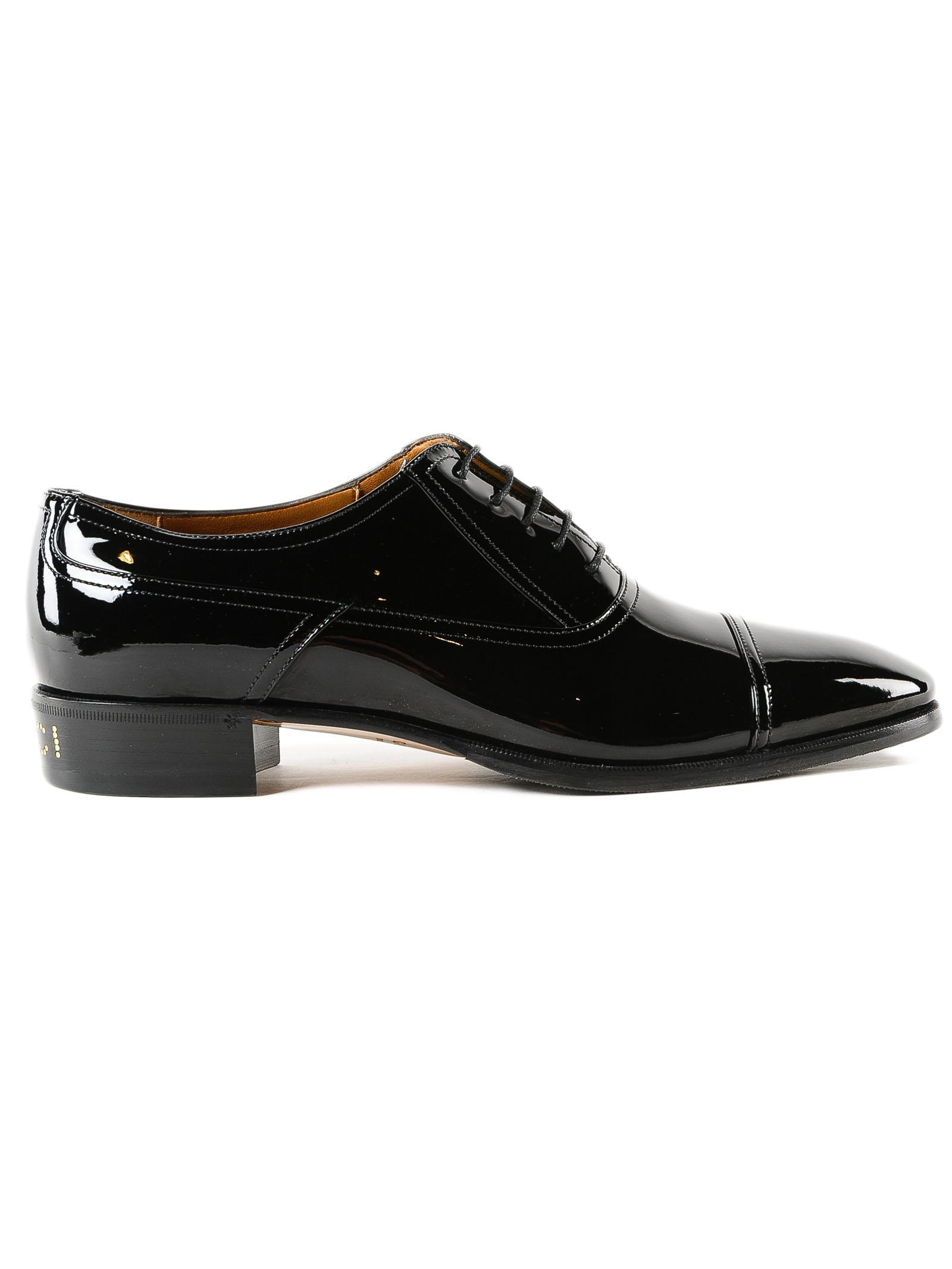 9deca3673 Gucci Lace Up Vernice Crystal in Black for Men - Lyst