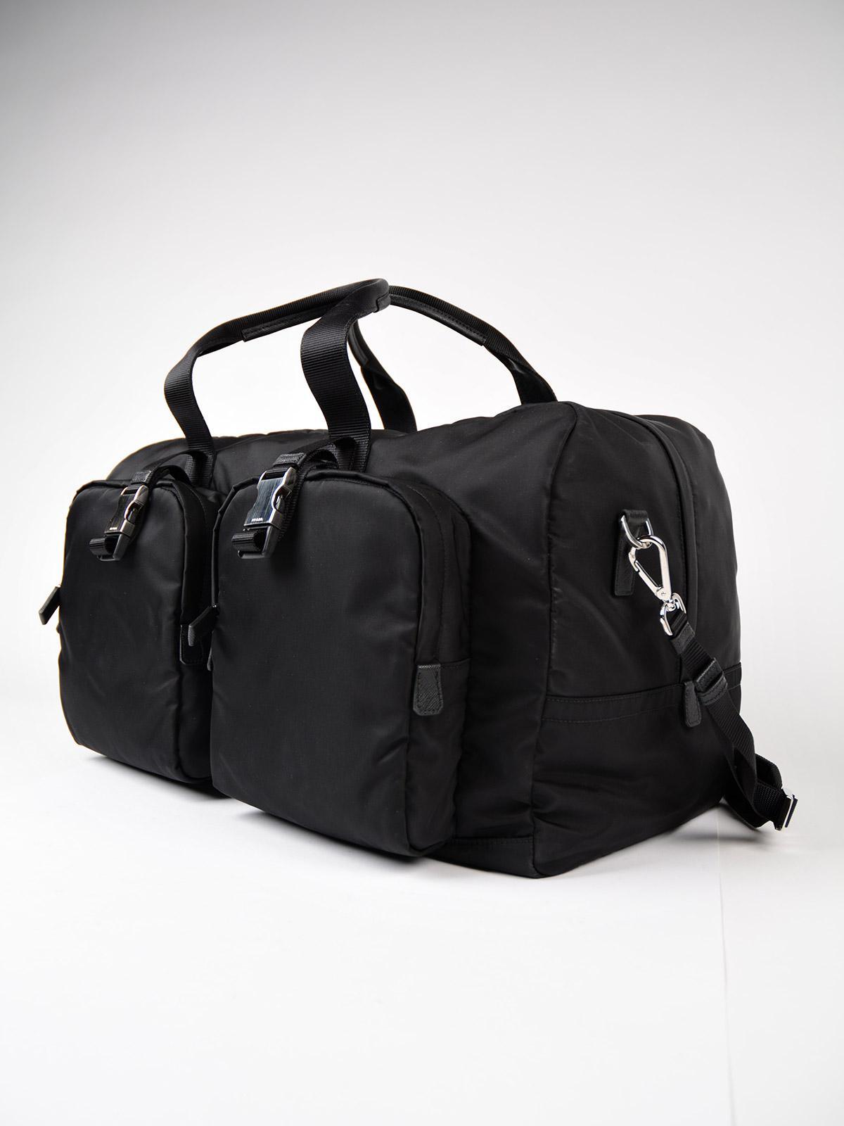 590e805eb691 Prada Tessuto Montagna Travel Bag in Black for Men - Lyst