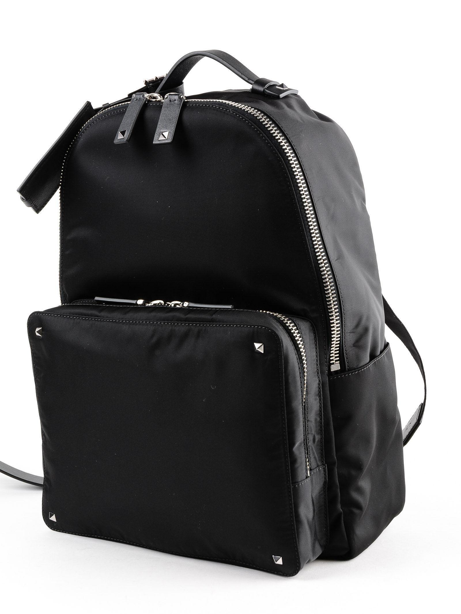 Lyst - Valentino Vltn Backpack in Black for Men aa341b2c92104