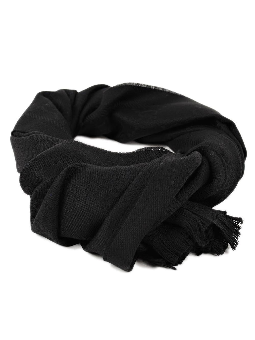 22a2b12b3d6 Lyst - Gucci Sten Scarf 48x180 in Black