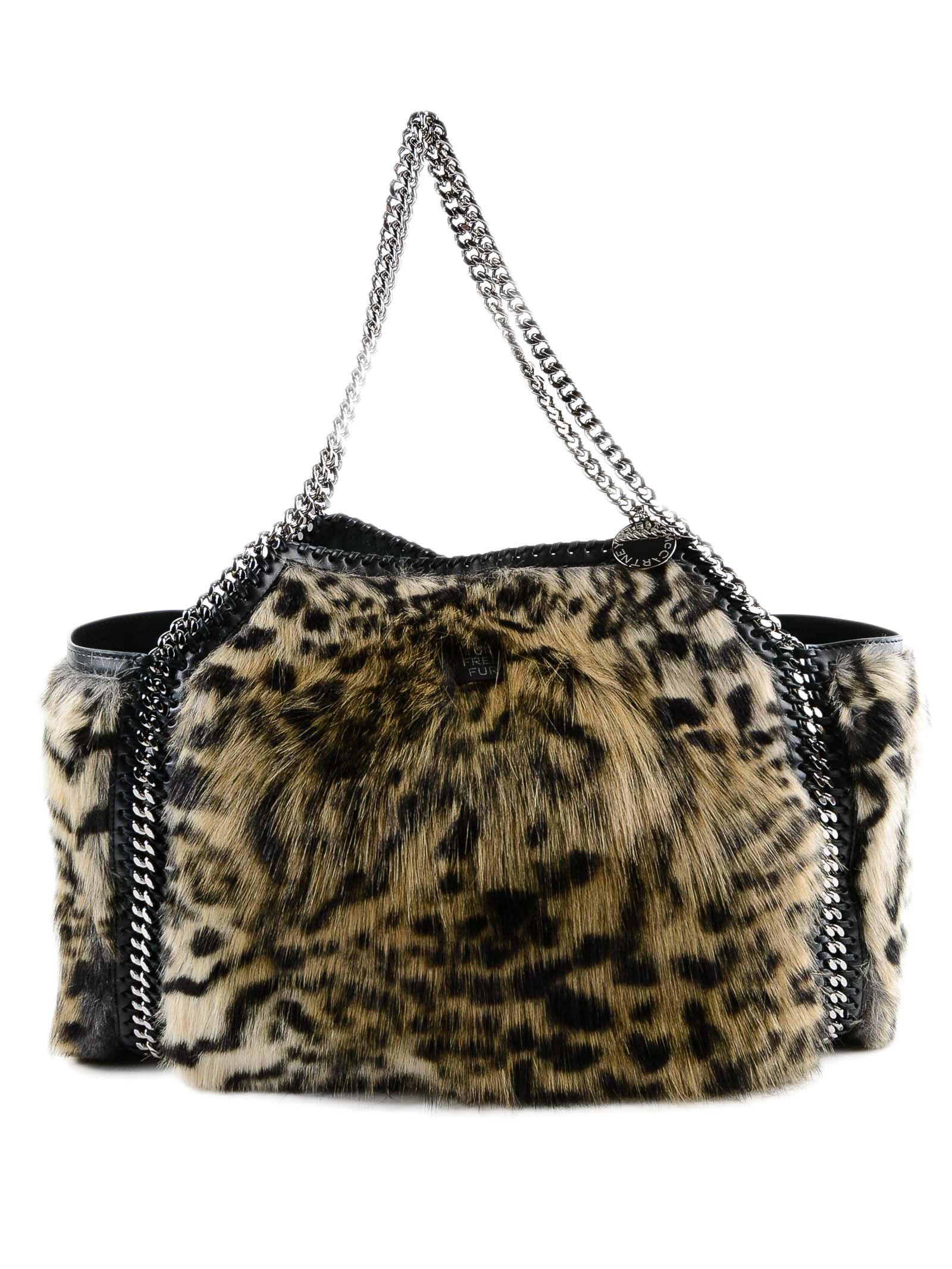 Lyst - Stella McCartney Snow Cat Fur Free Falabella Small Tote Bag ... 24f65de434c3e