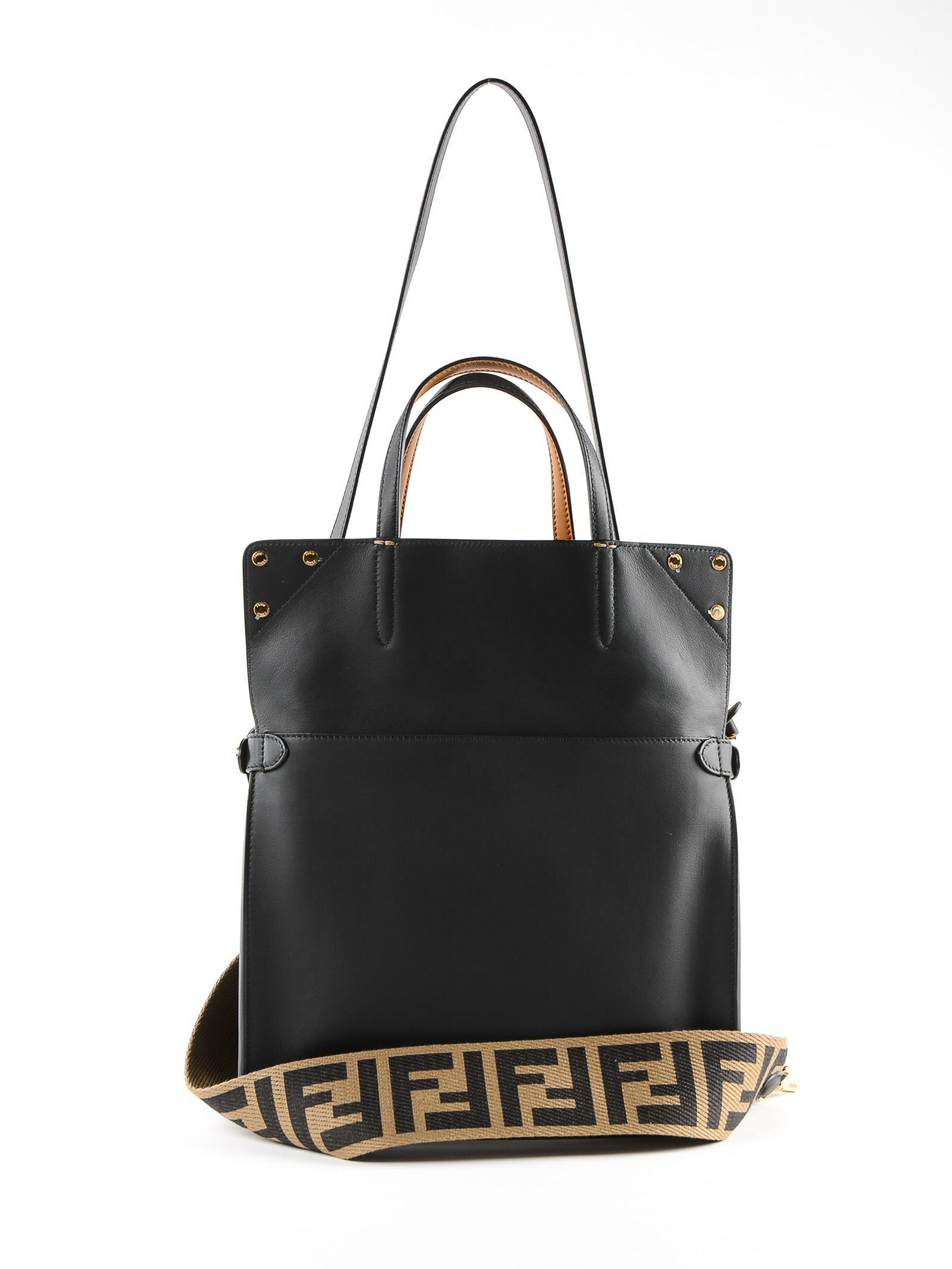 8b2d580648a0 Fendi - Black Flip Regular Bag - Lyst. View fullscreen