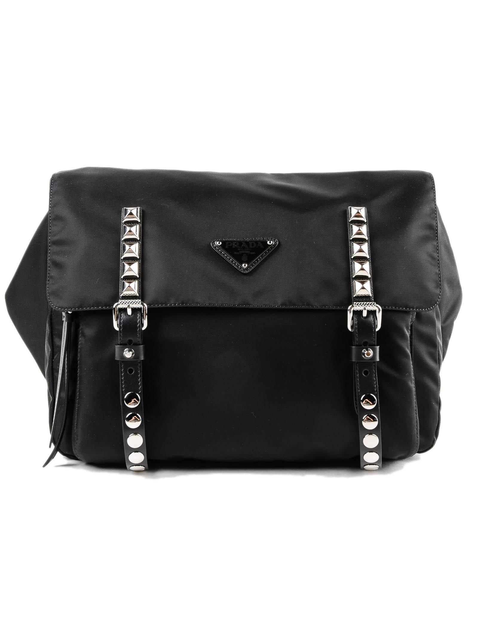 ac2ced91655 Lyst - Prada Belt Bag New Vela in Black