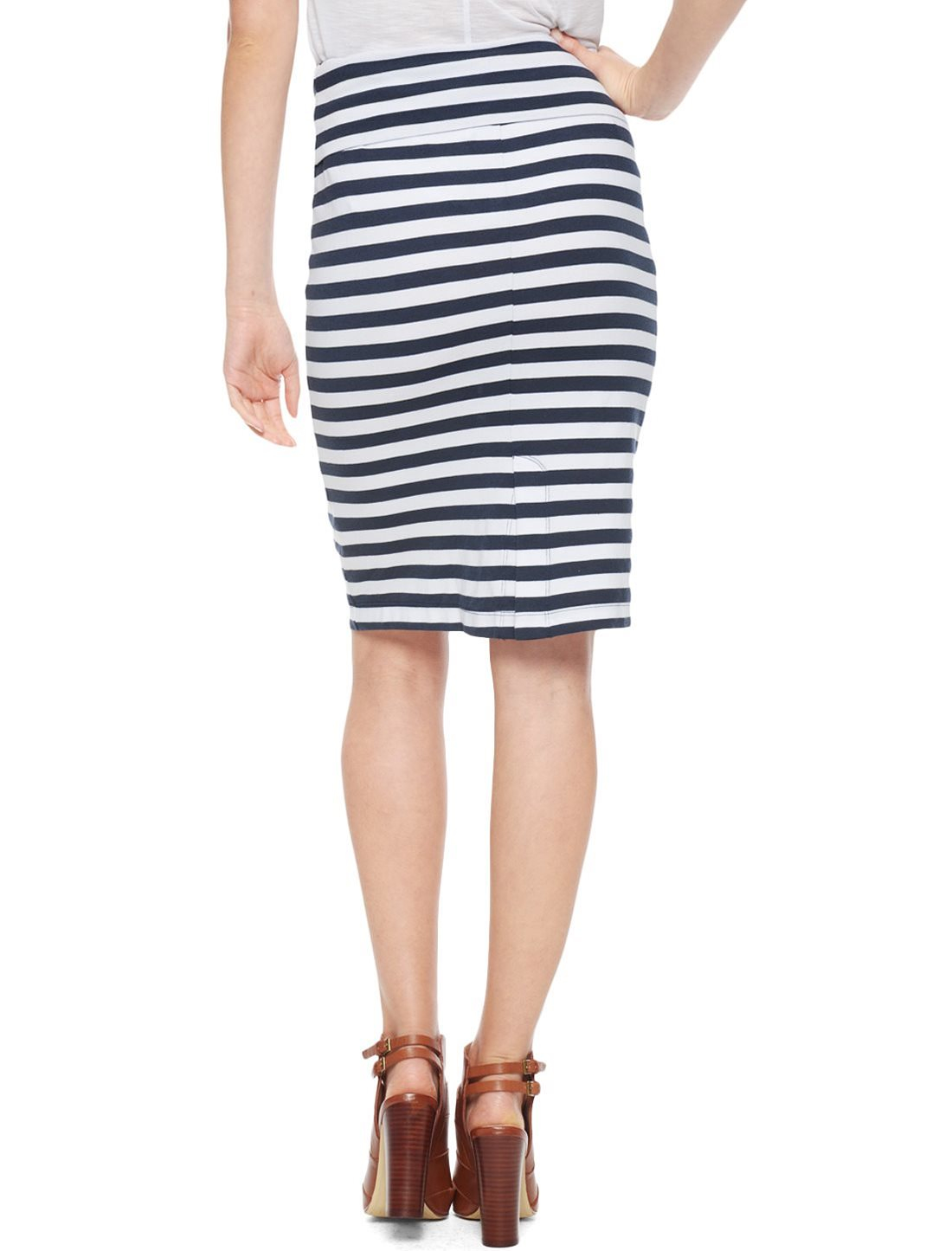splendid stripe skirt in blue lyst