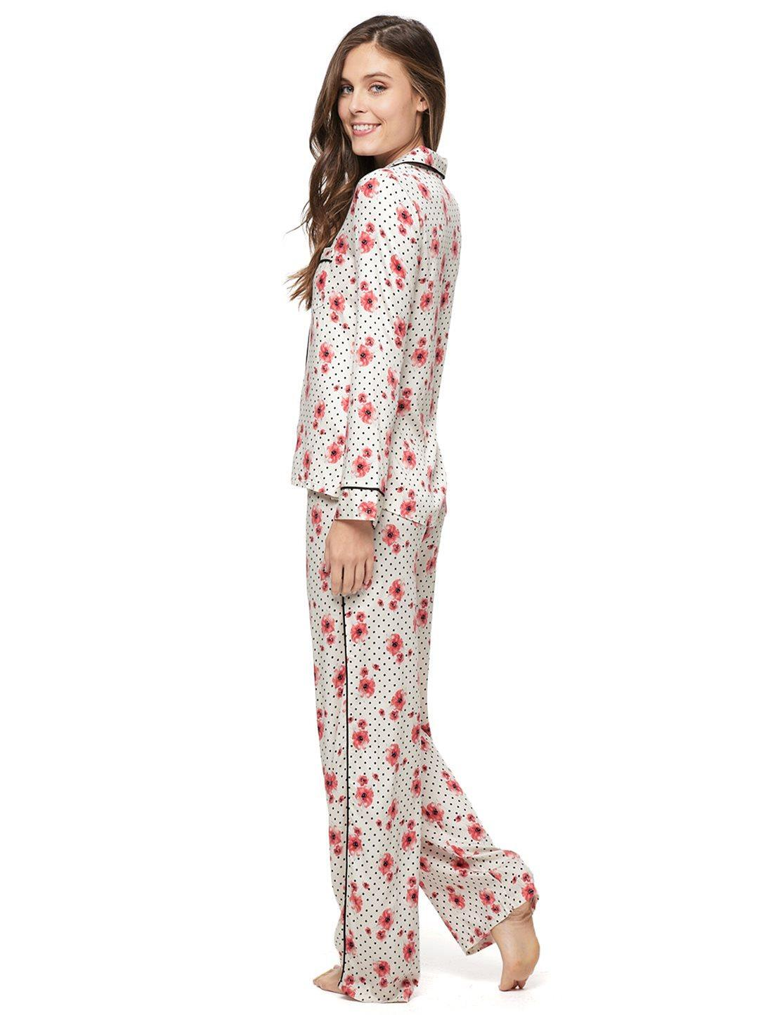 Splendid Piped Pajama Set in Red