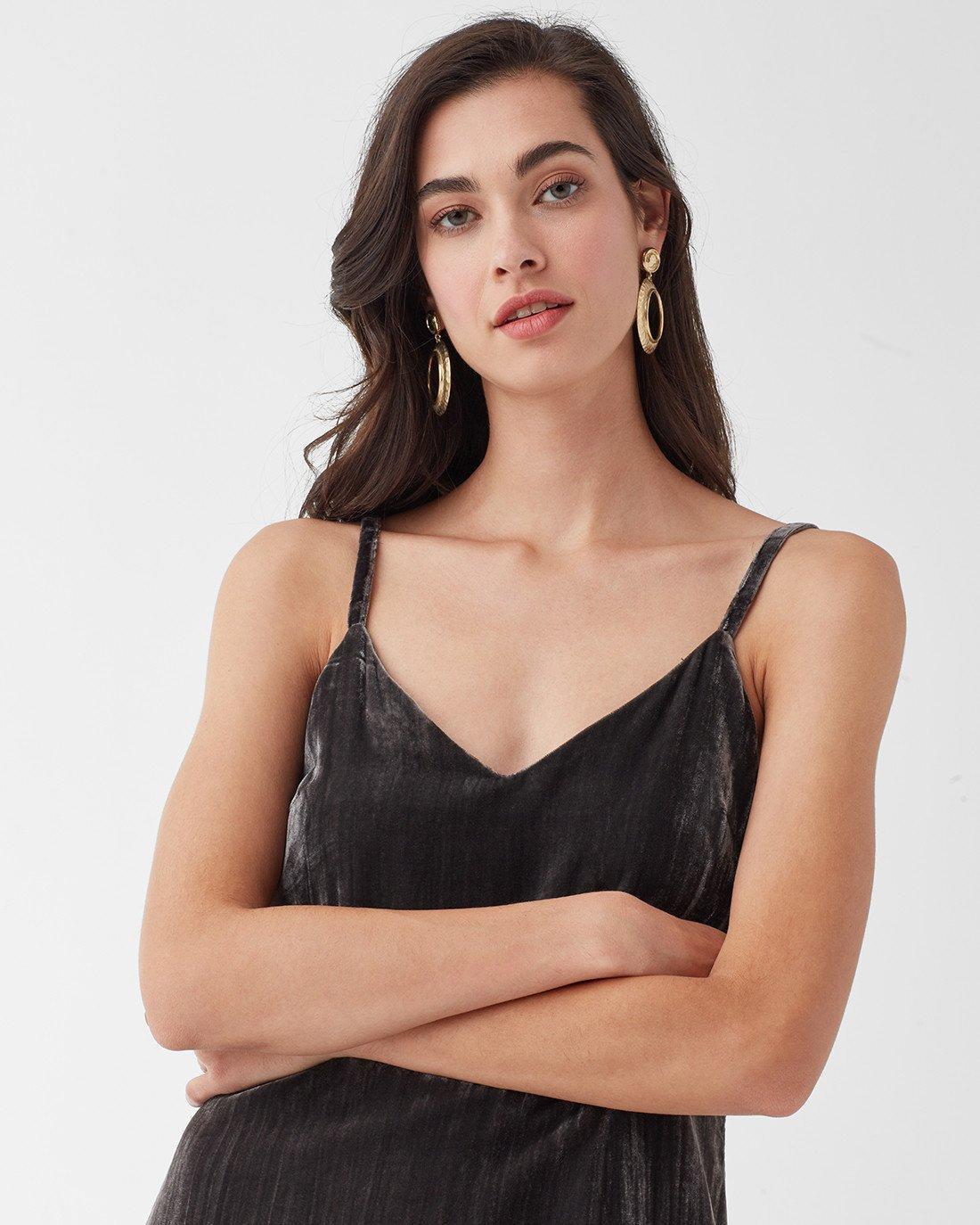 62b7c2a22bfd Splendid - Black Moonstone Velvet Dress - Lyst. View fullscreen