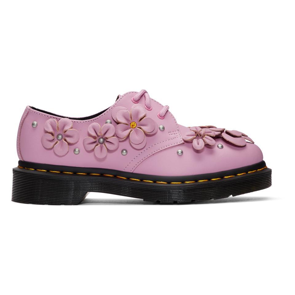 Pink 1461 Flower Derbys Dr. Martens sydzNr