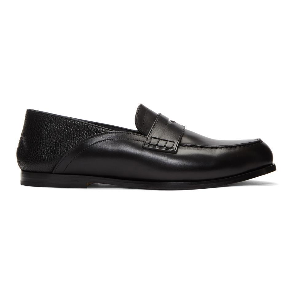 Loewe Black Convertible Penny Loafers czkg9Oyd