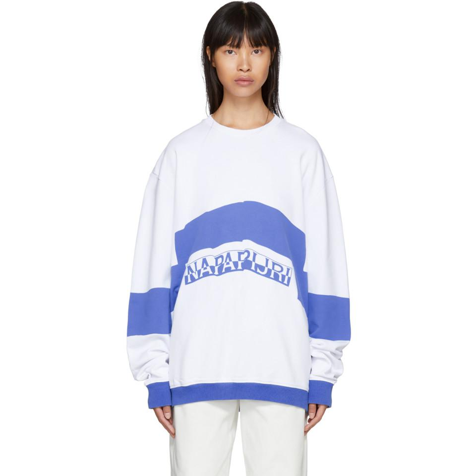 White and Blue Bacchus Sweatshirt Martine Rose Cheap Sale Best Place Pictures For Sale Discount Factory Outlet jqUQtEIKAn