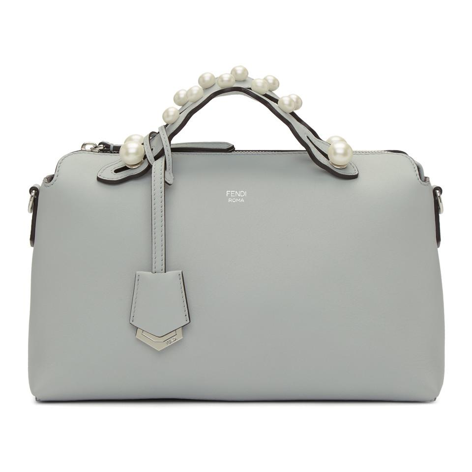 beaadb0022 Lyst - Fendi Grey Medium Pearl By The Way Bag in Gray