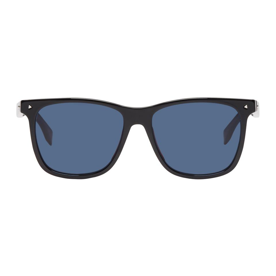 891bf156fee Fendi Black And Blue Square Sunglasses in Blue for Men - Lyst