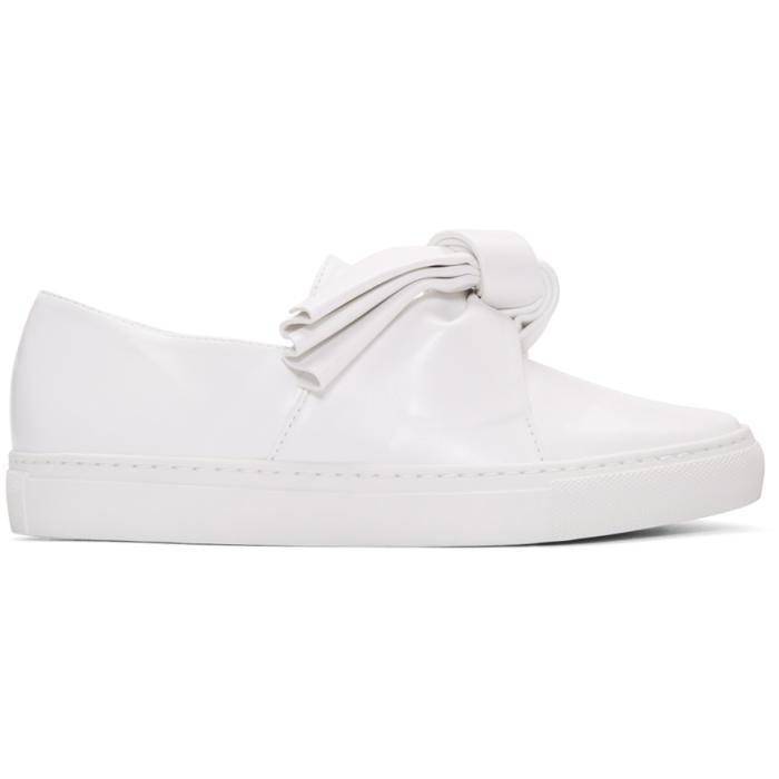 White Bow Slip-On Sneakers Cedric Charlier r6c7G