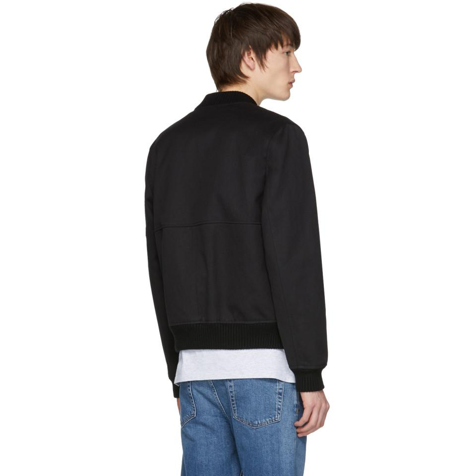 Lyst - A.P.C. Black Jones Blouson Jacket in Black for Men c57d4b1ca653